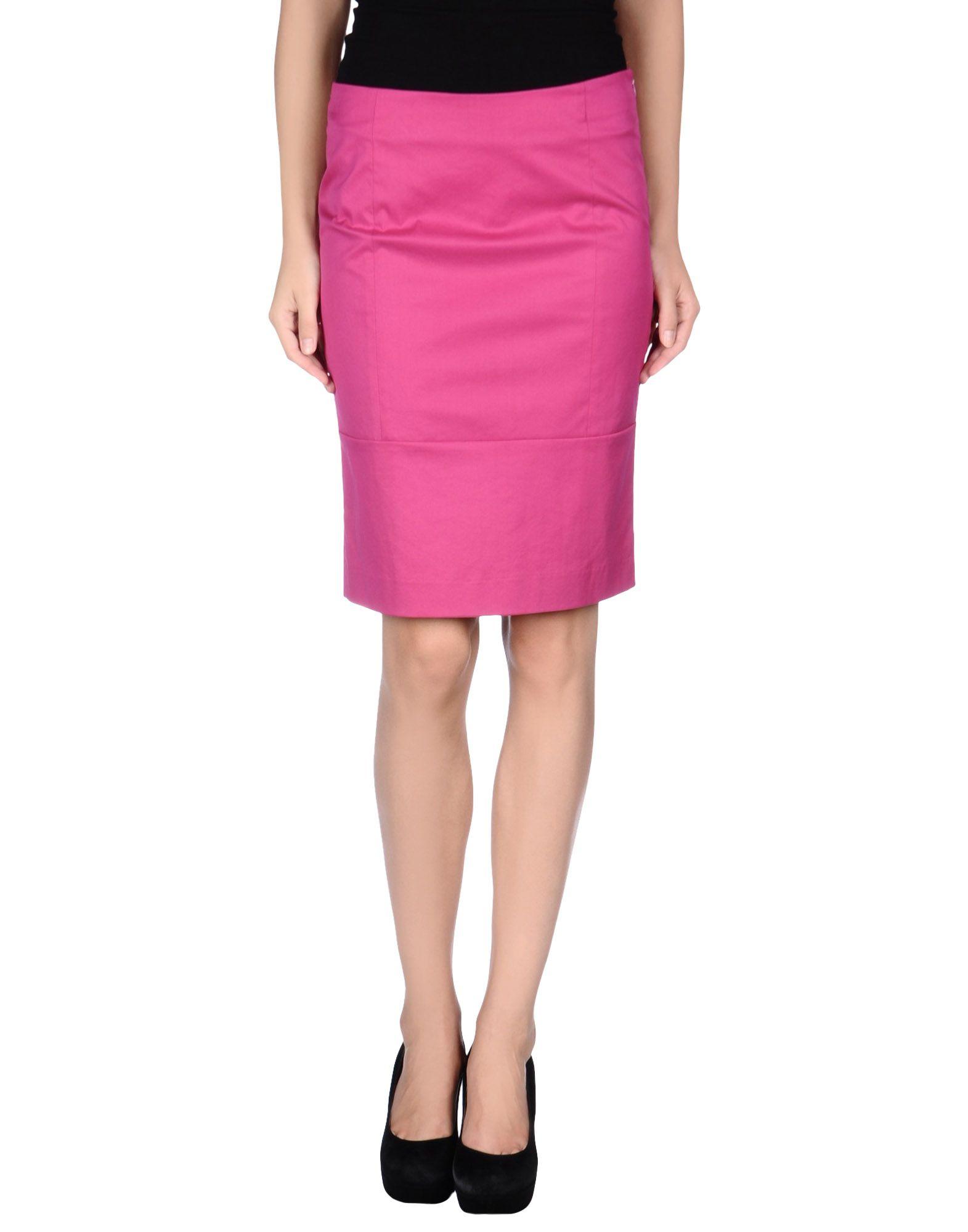 armani knee length skirt in purple lyst