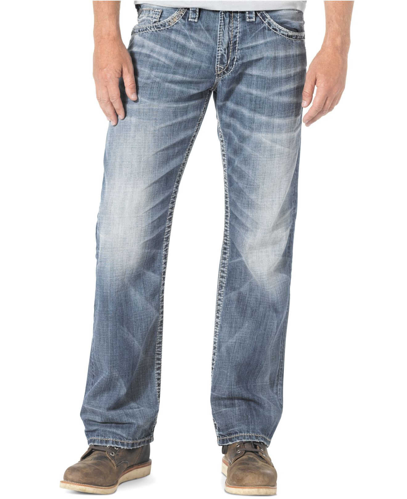 Men's silver jeans zac – Global fashion jeans models