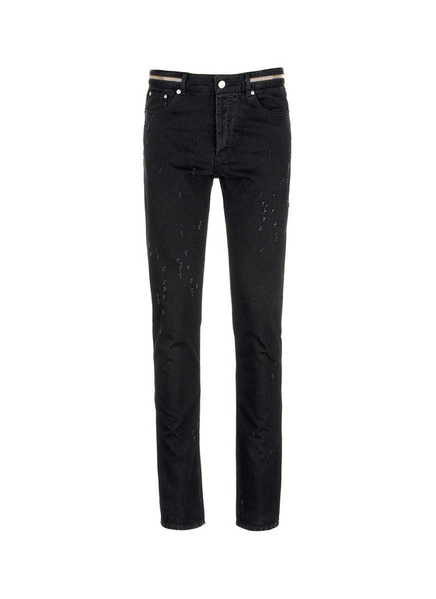 zip-detail straight jeans - Grey Givenchy pPJDl