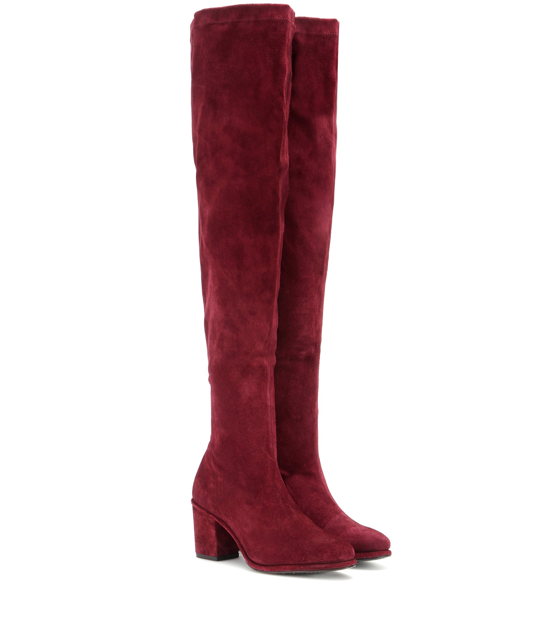 Opening ceremony Suede Over-The-Knee Boots in Purple | Lyst