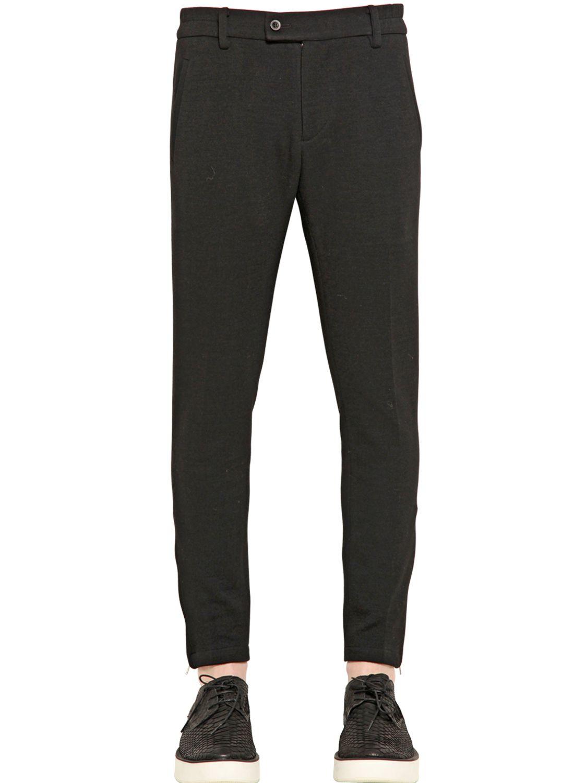Perdre haleine 16Cm Stretch Wool Jersey Trousers in Black ...