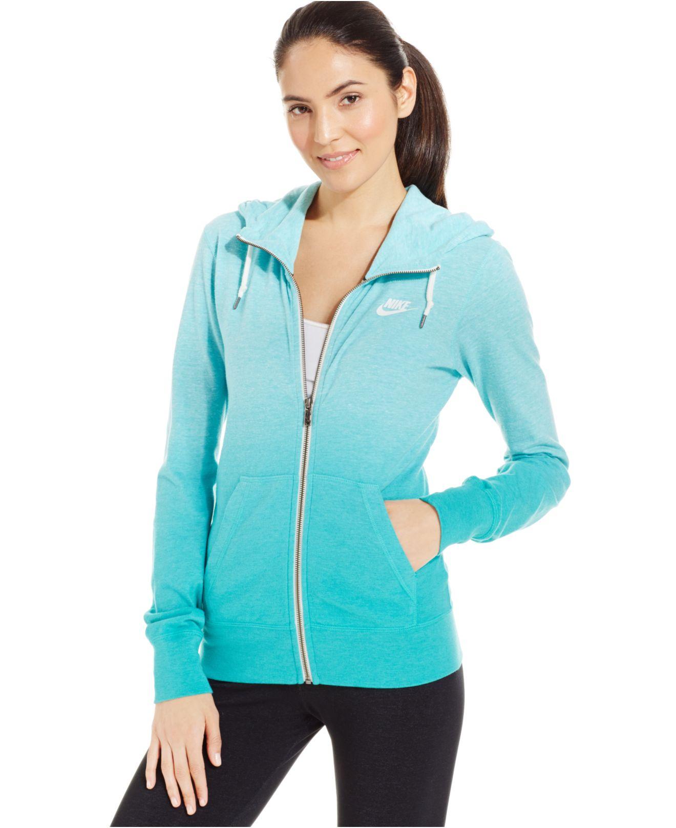 Nike Long Sleeve Ombre Gym Vintage Hoodie In Blue Lyst