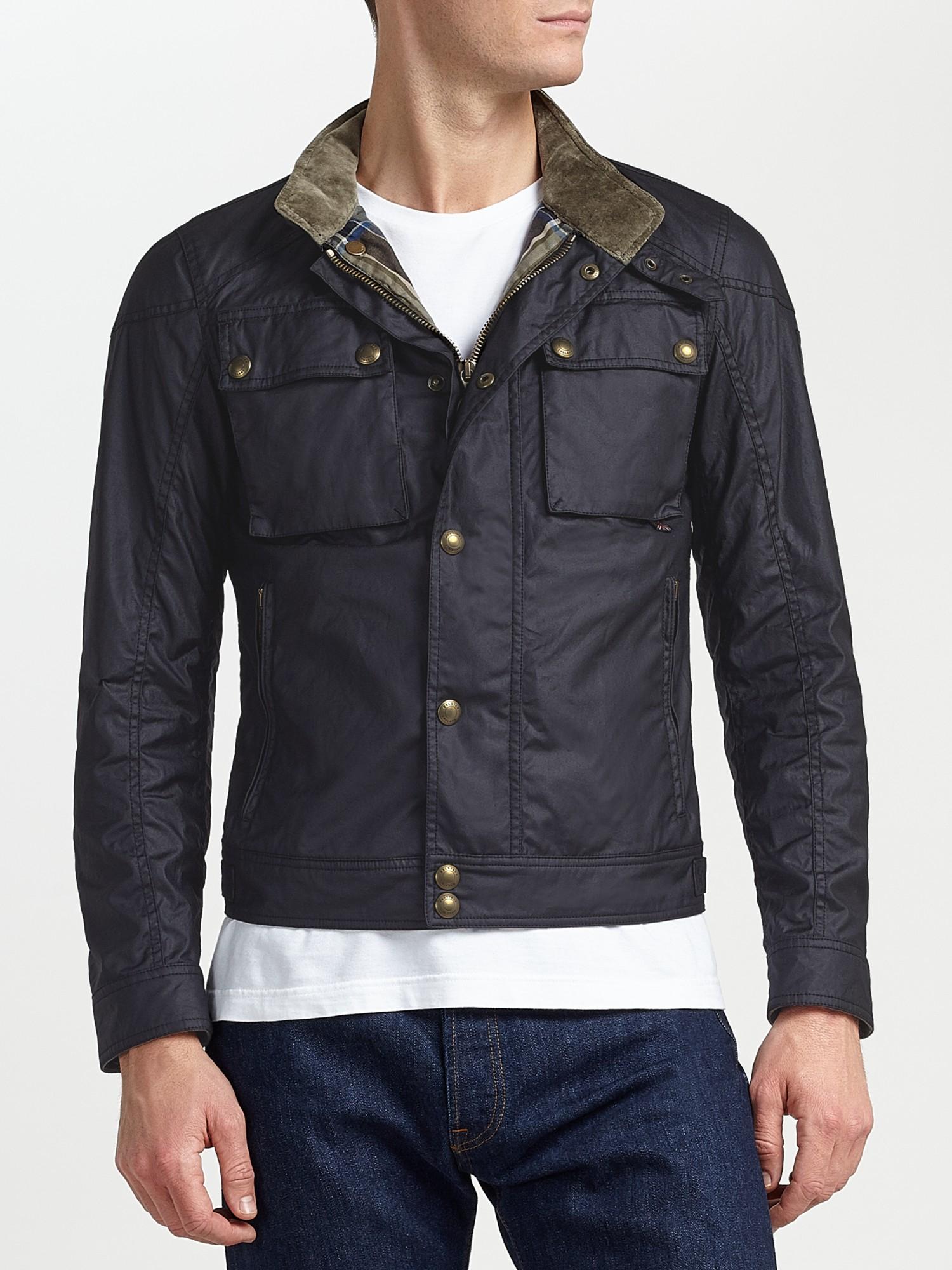 Belstaff Racemaster Blouson Waxed Jacket In Black For Men