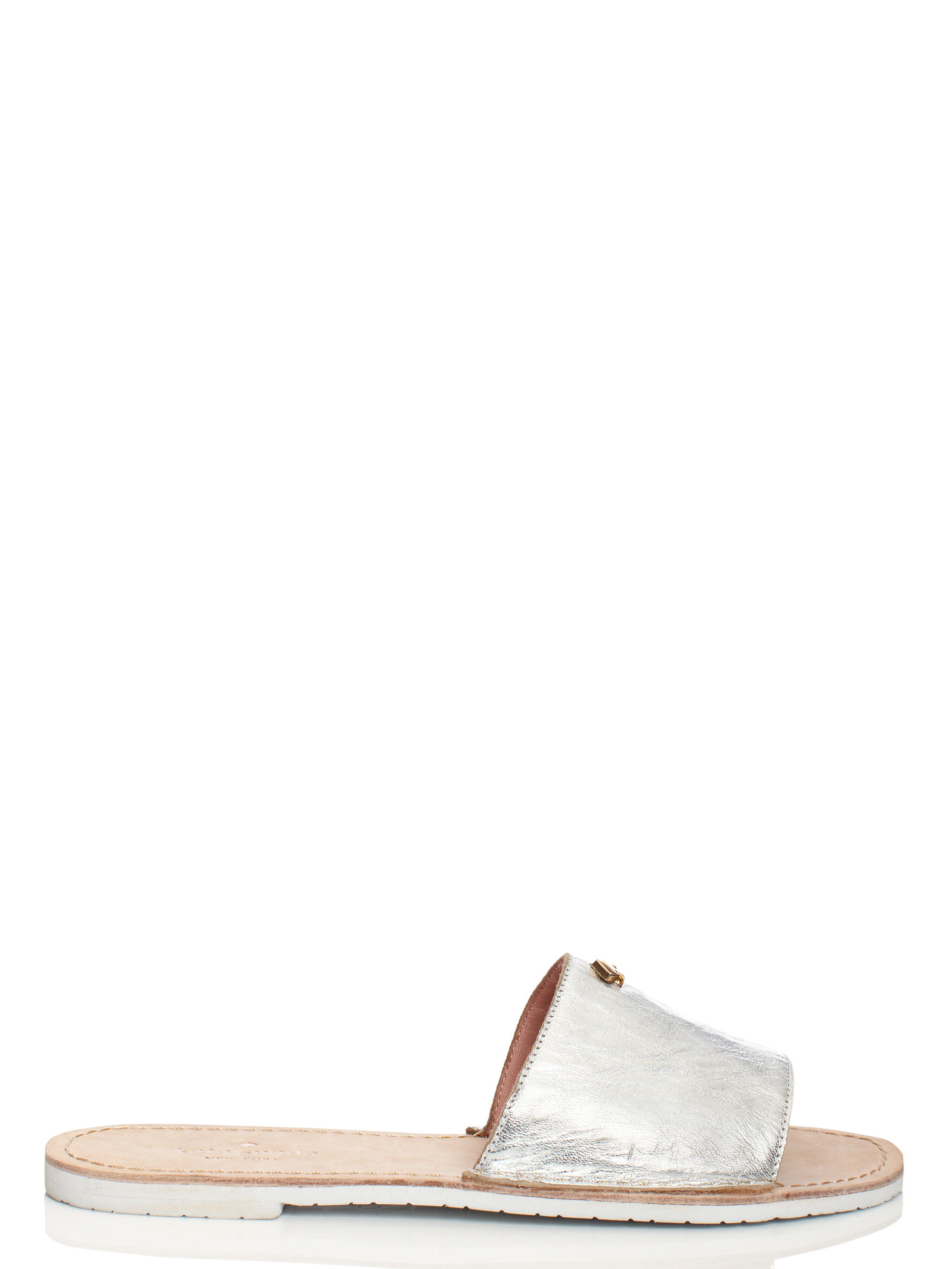 83ba647b7141 Lyst - Kate Spade Imperiale Sandals in Metallic