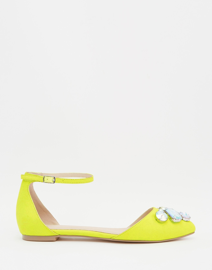Lyst Legend Yellow Pointed Asos In Flats Ballet ggawvnqr