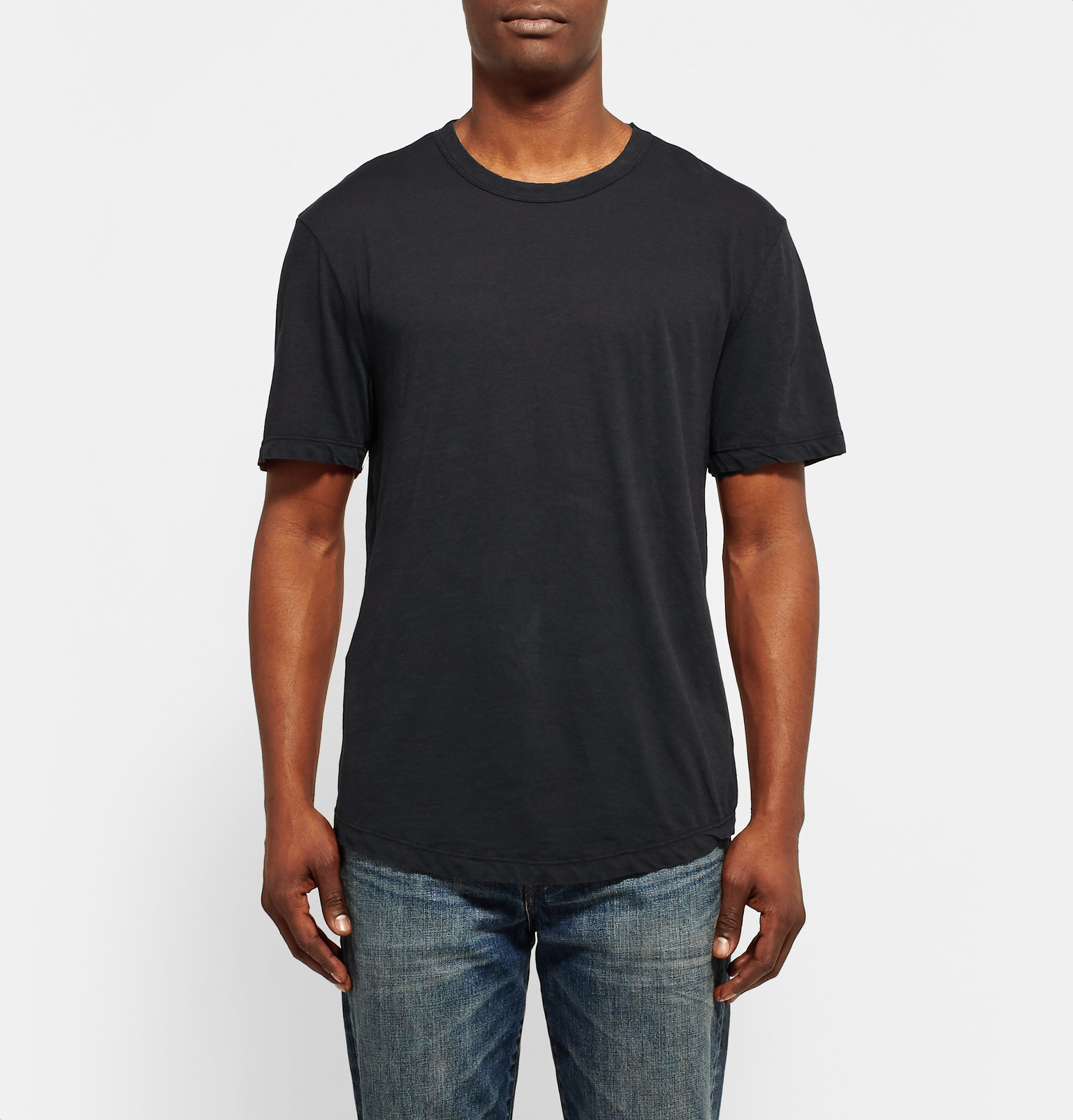 james perse cotton jersey t shirt in blue for men lyst