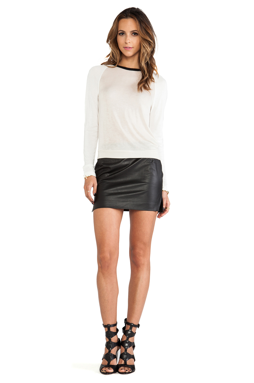Capulet High Waist Mini Skirt in Black | Lyst