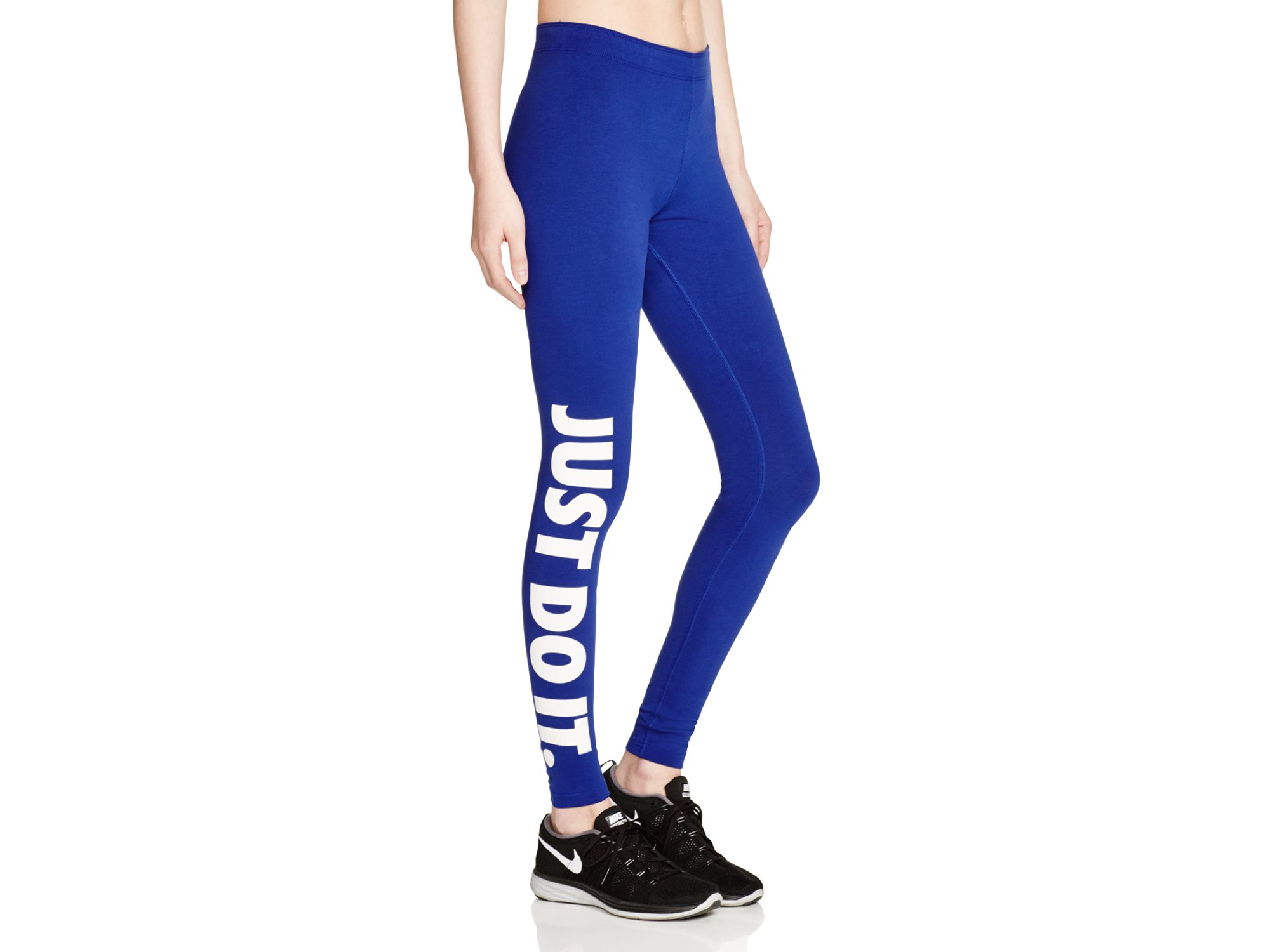 lyst nike leg a see leggings in blue. Black Bedroom Furniture Sets. Home Design Ideas