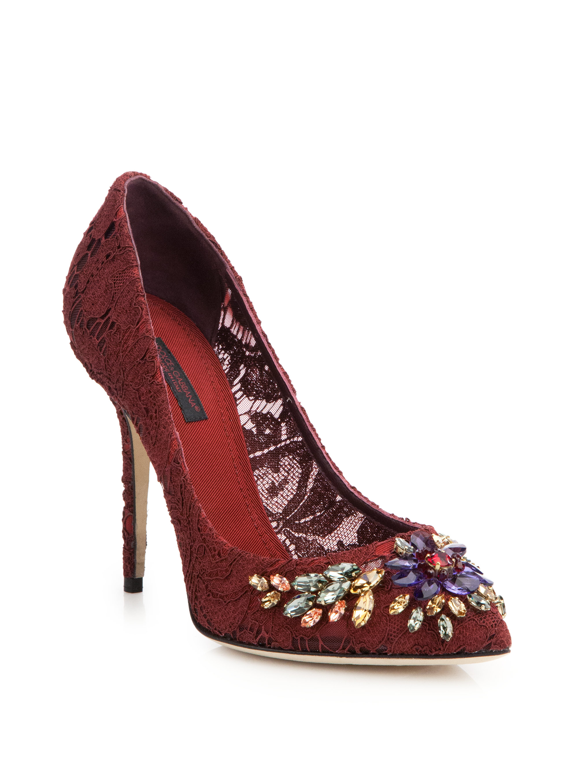 Lyst Dolce Amp Gabbana Daisy And Poppy Print Pumps