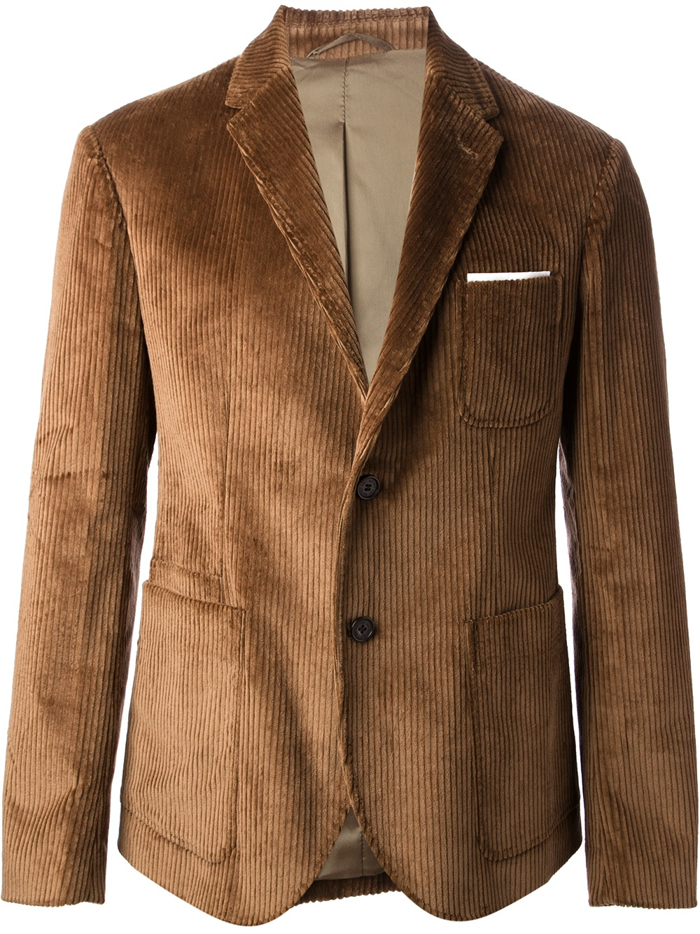 Lyst Neil Barrett Corduroy Blazer In Brown For Men