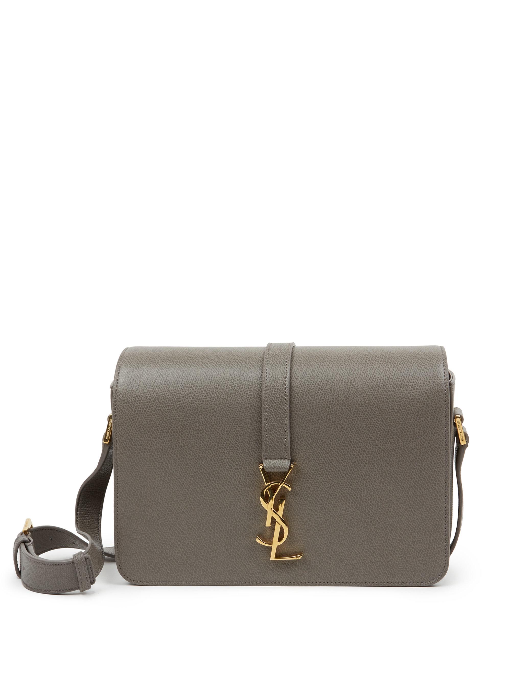Saint laurent Monogram Universite Medium Textured Leather ... monogram  small universite satchel bag ... b94b1a7cfba4a