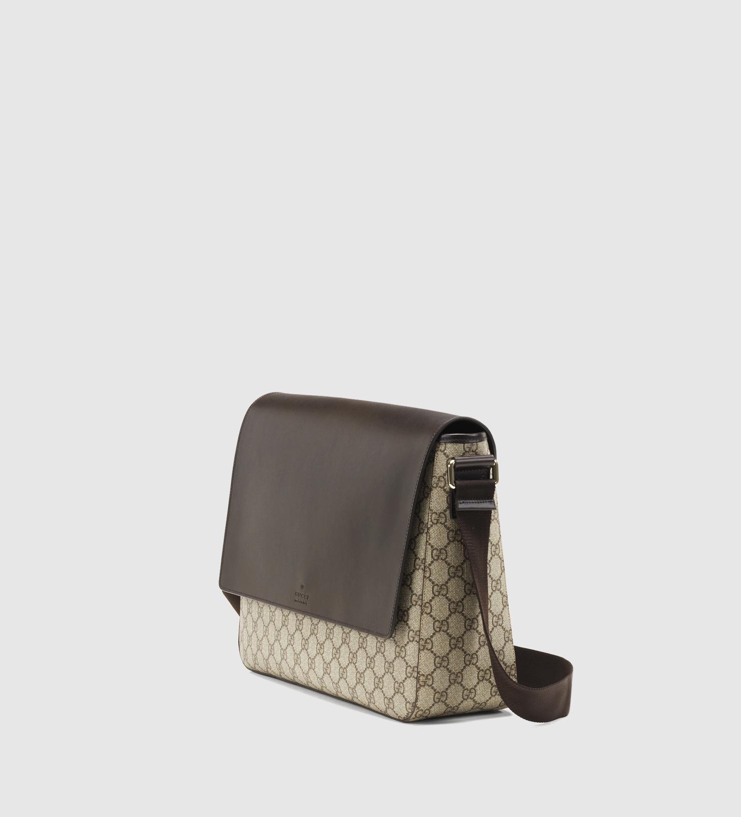 28f0f86ed6d4 Gucci Gg Supreme Canvas Messenger Bag in Brown - Lyst
