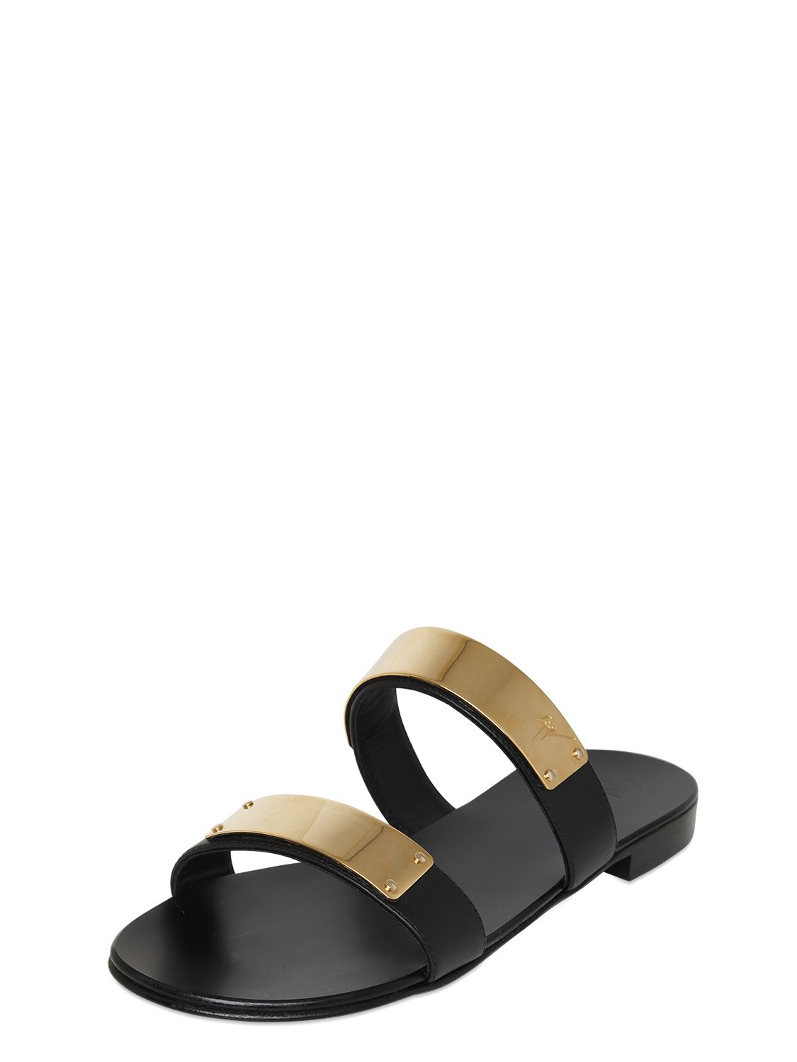 cheap new Giuseppe Zanotti Metallic Slide Sandals w/ Tags lowest price sale online for cheap discount LHTrYA
