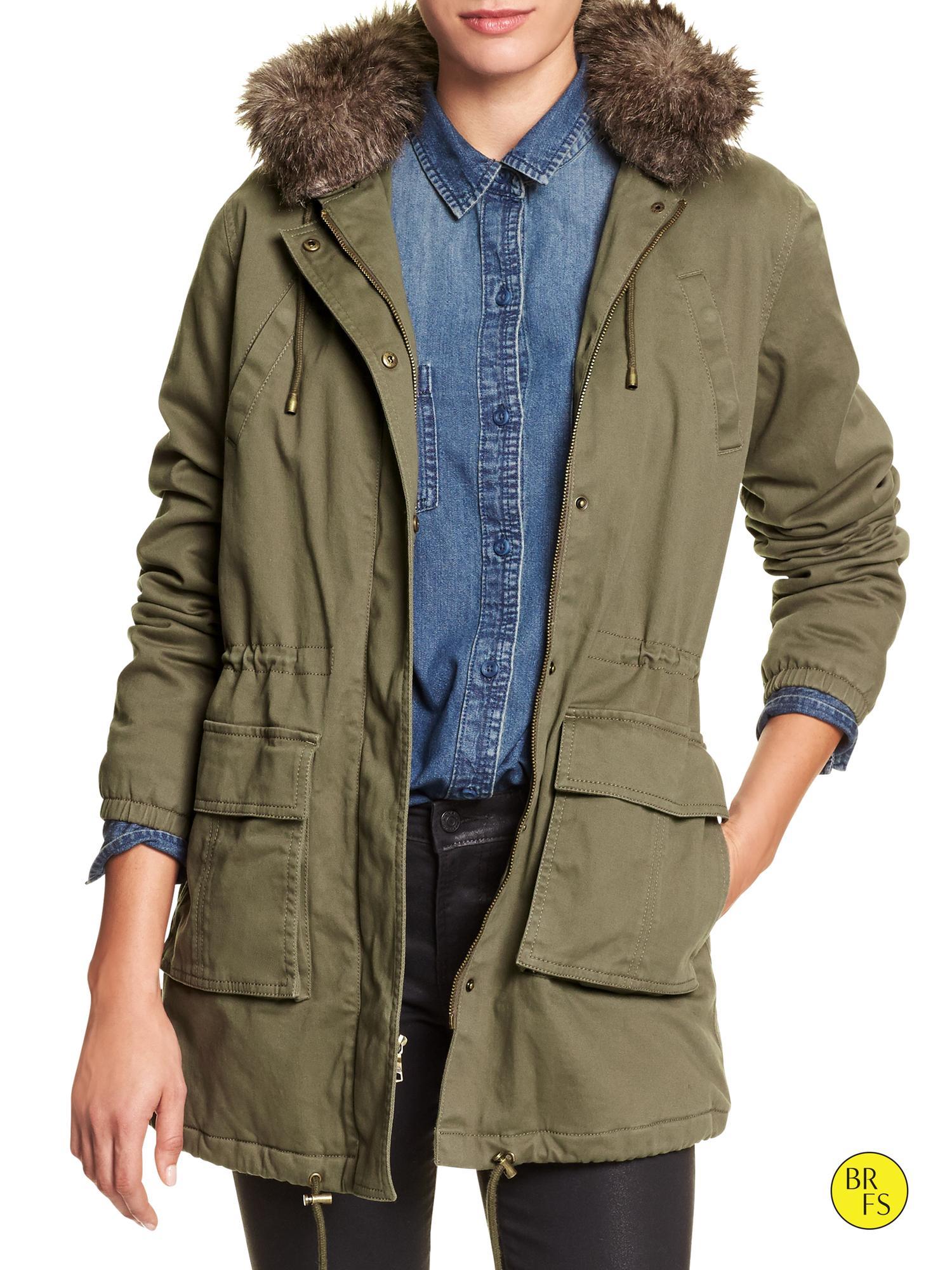 Utility Jacket Jackets And Nike: Banana Republic Factory Hooded Utility Jacket In Green