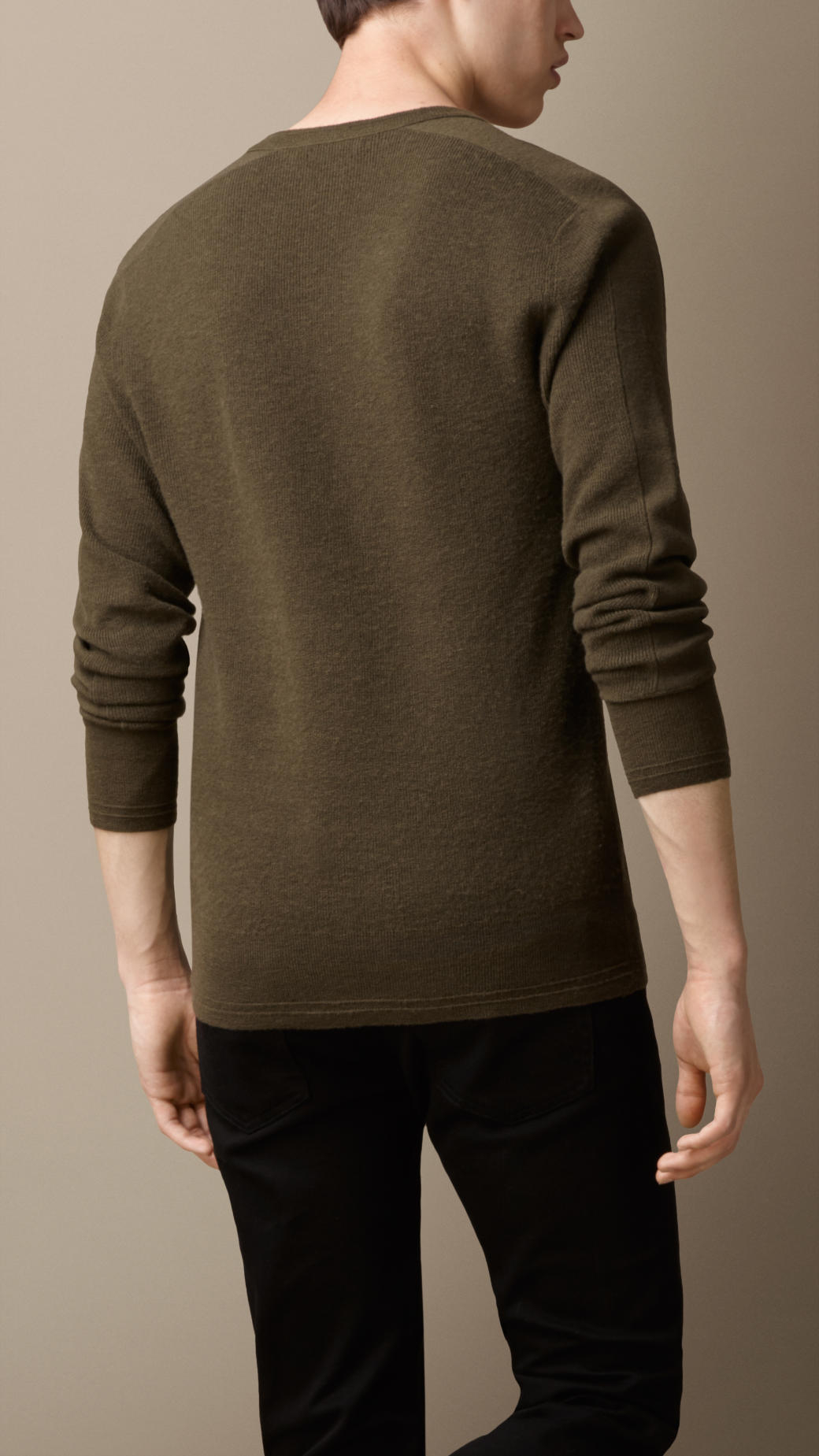 Burberry Lightweight Cashmere Sweater in Green for Men | Lyst