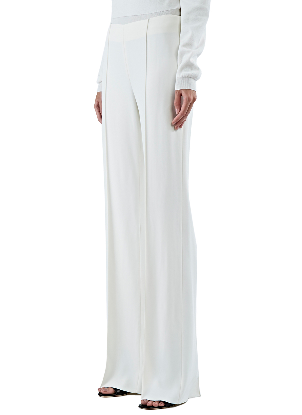 Agnona Women's Wide Leg Pants In Off-white in White | Lyst