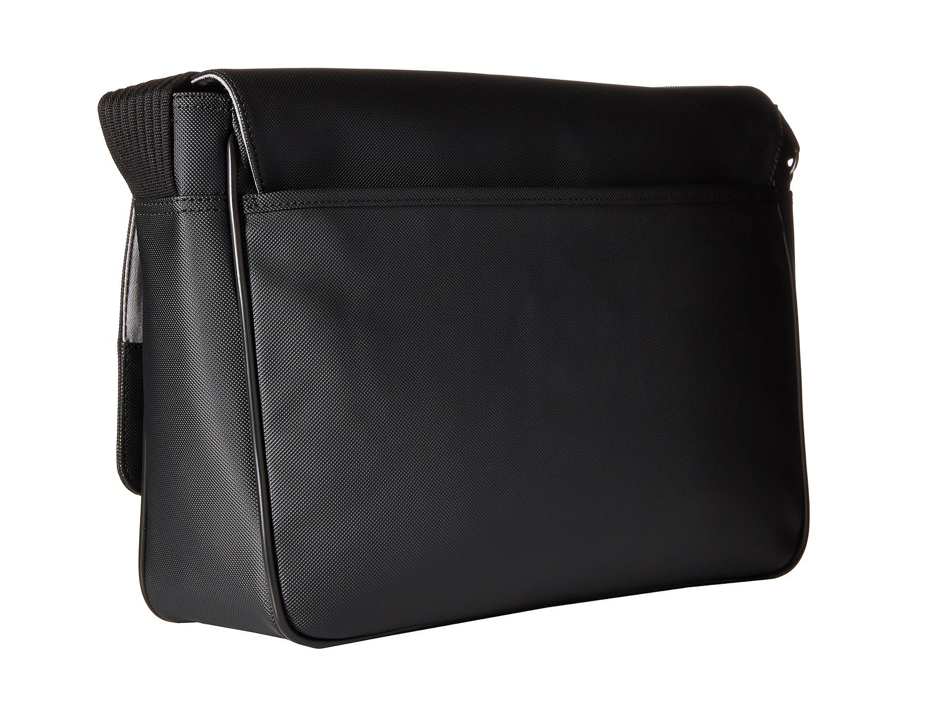 Lyst - Lacoste Classic Messenger Bag in Black for Men 105de56dce99a