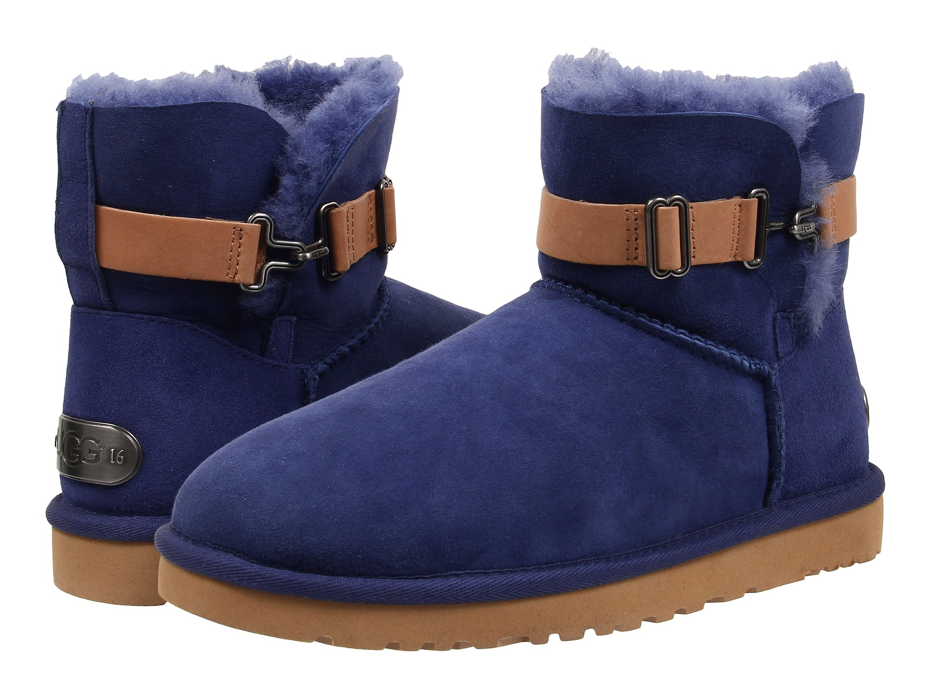 Womens Boots UGG Aurelyn Racing Stripe Blue Twinface