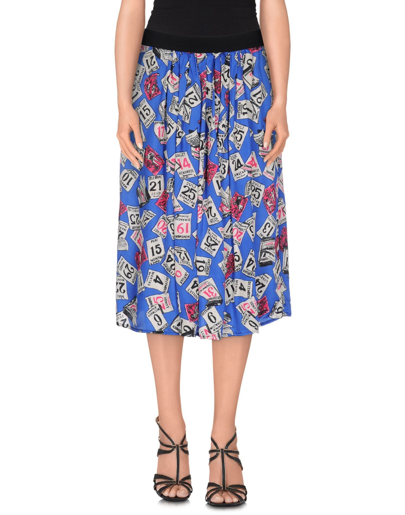 suoli 3 4 length skirt in floral bright blue save 55