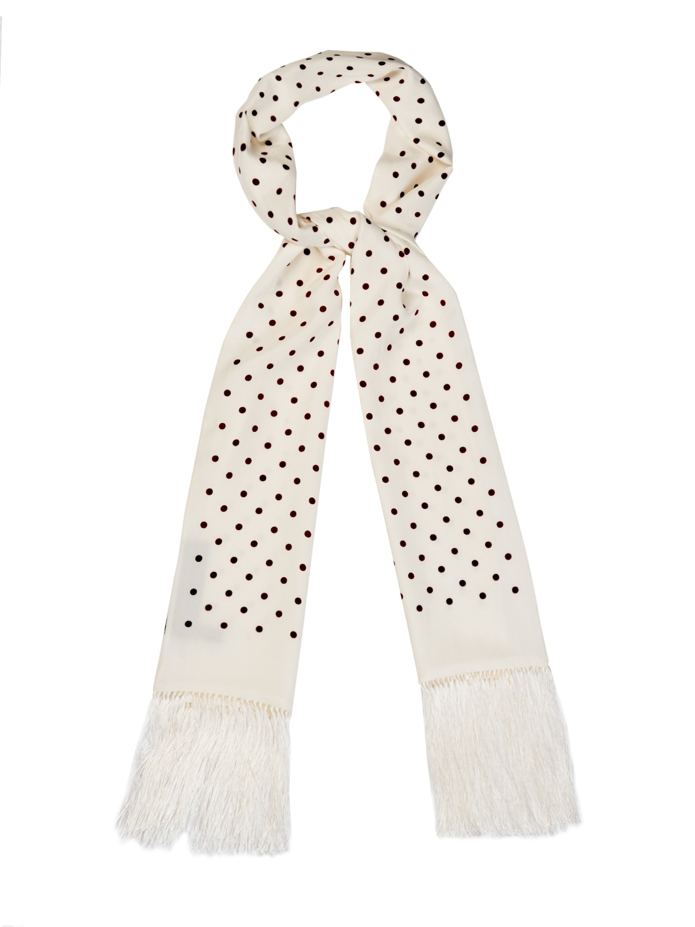 striped polka dotted scarf - Blue Haider Ackermann bjc4fYal11