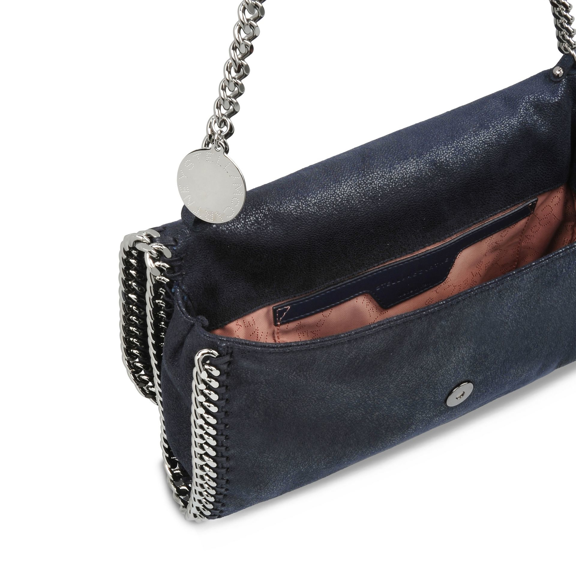 Stella McCartney Navy Falabella Shaggy Deer Shoulder Bag in Blue - Lyst 3b2d38e7be