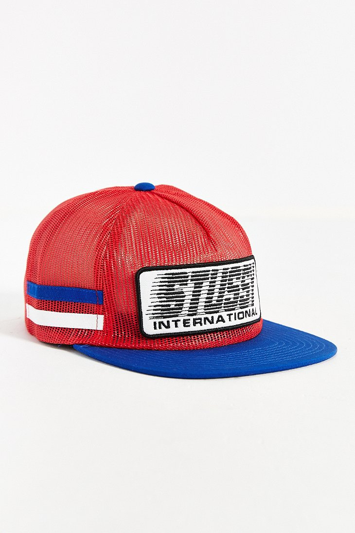 6defa75aa9c Lyst - Stussy Bmx Trucker Hat in Red for Men