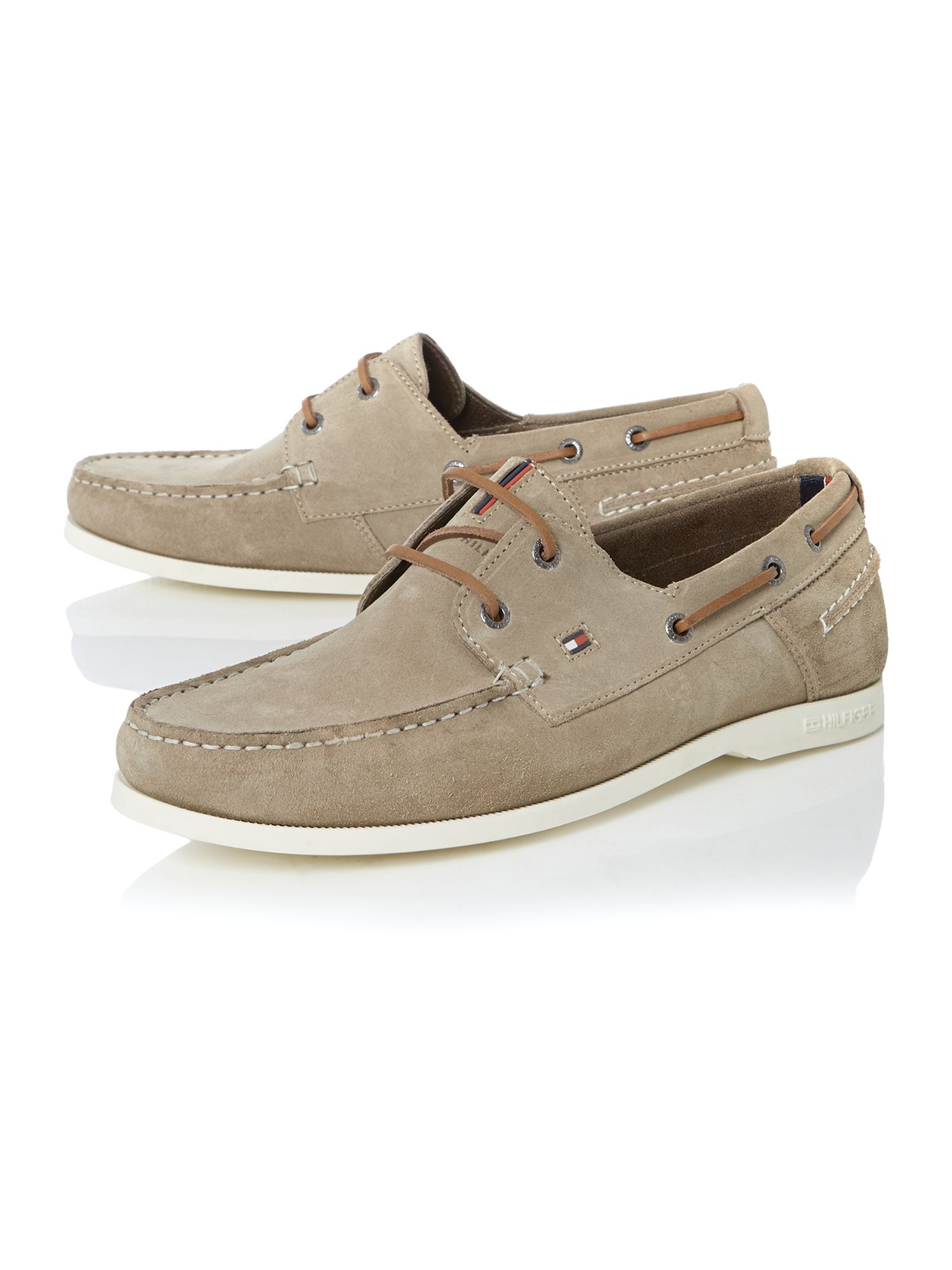 hilfiger chino lace up casual boat shoes in