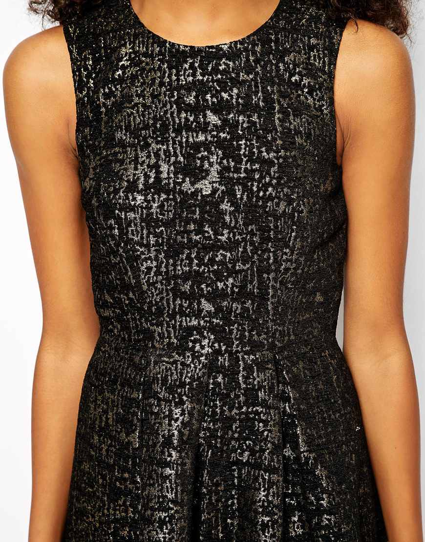 Vero moda black and gold dress