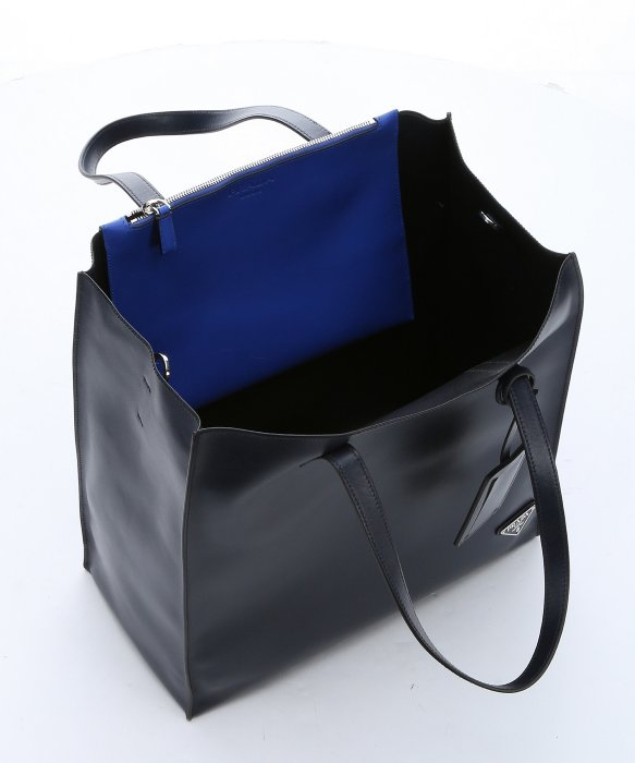 6a69866b34c0 ... shop lyst prada baltic blue calfskin large convertible shopper tote in  blue acb75 528bb