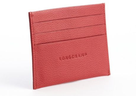 Longchamp Red Leather Card