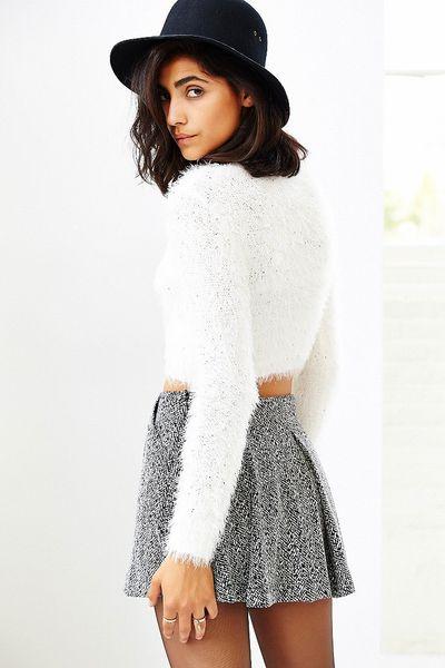 Fuzzy White Sweater