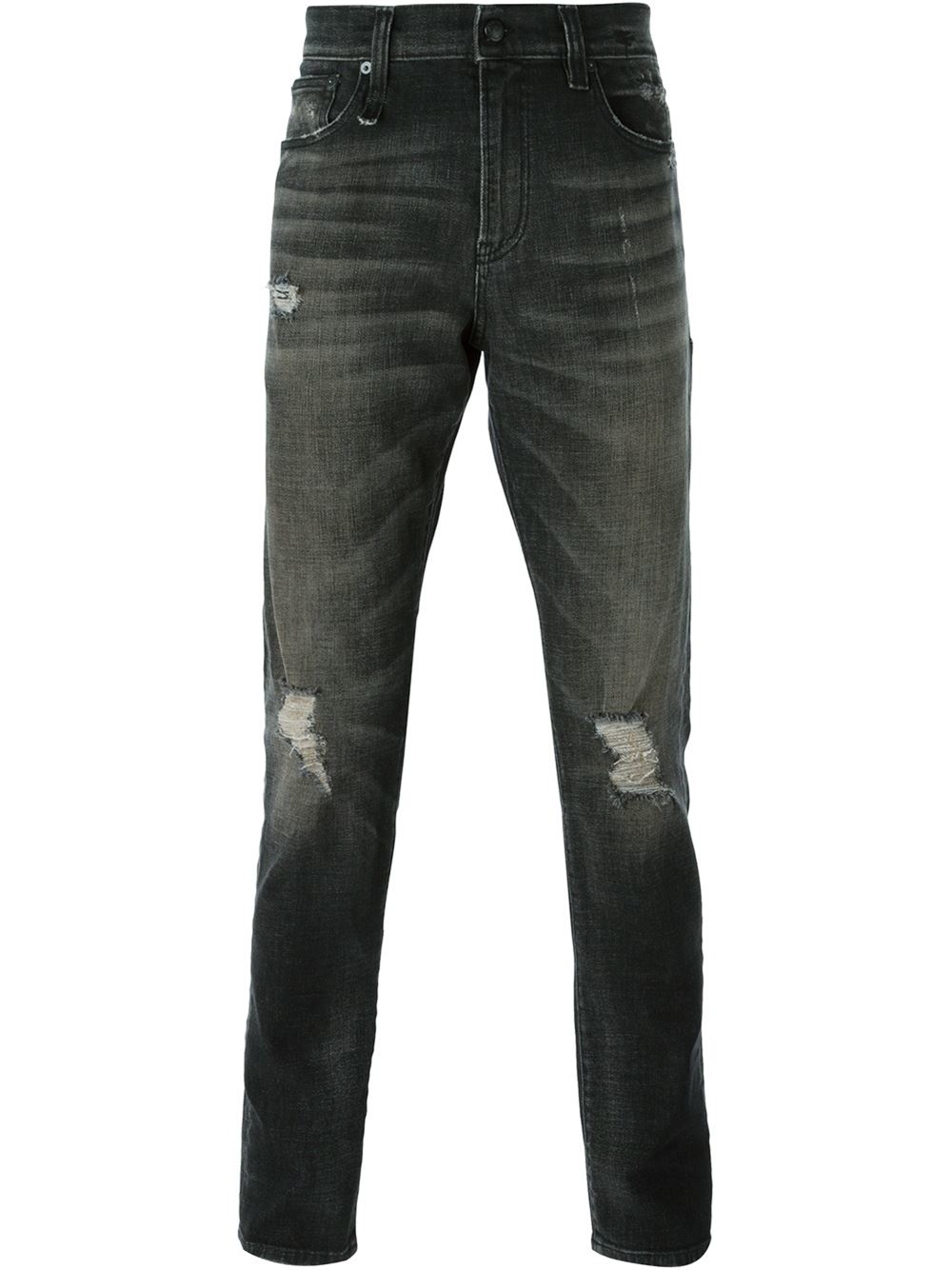 R13 Distressed Jeans in Black for Men | Lyst