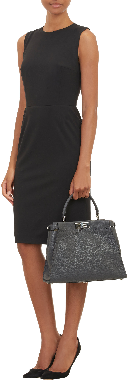 ... wholesale fendi selleria peekaboo bag in gray lyst 8c904 8e7d3 ... d6c261929d3df