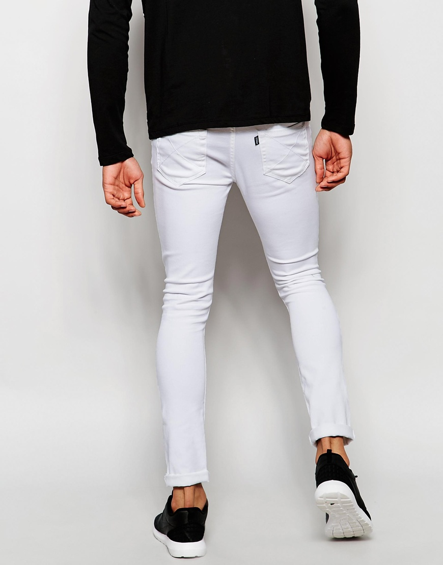 Jaded london Super Skinny Jeans With Extreme Distressing in White ...