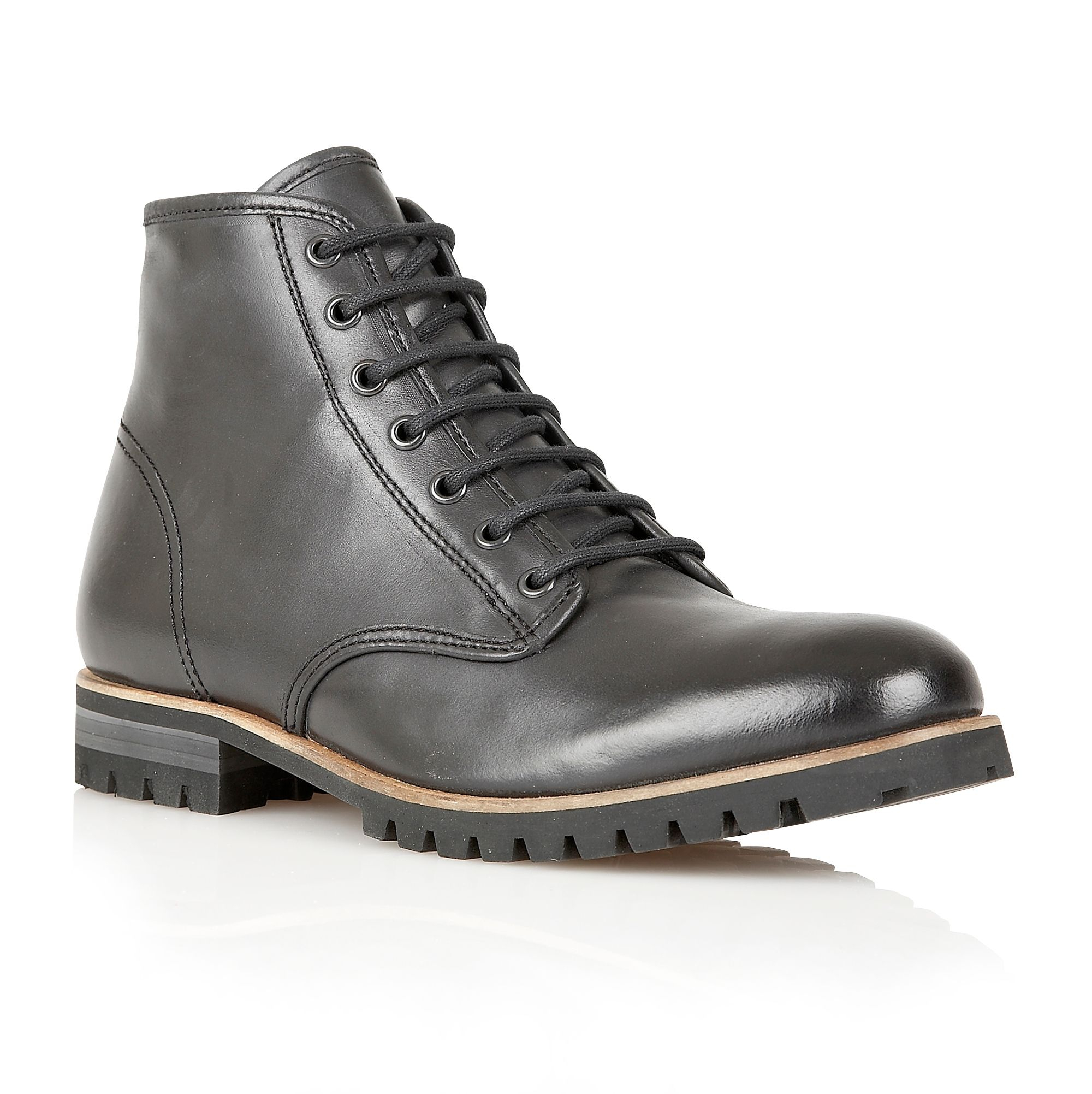 frank wright s acton boots in black for lyst