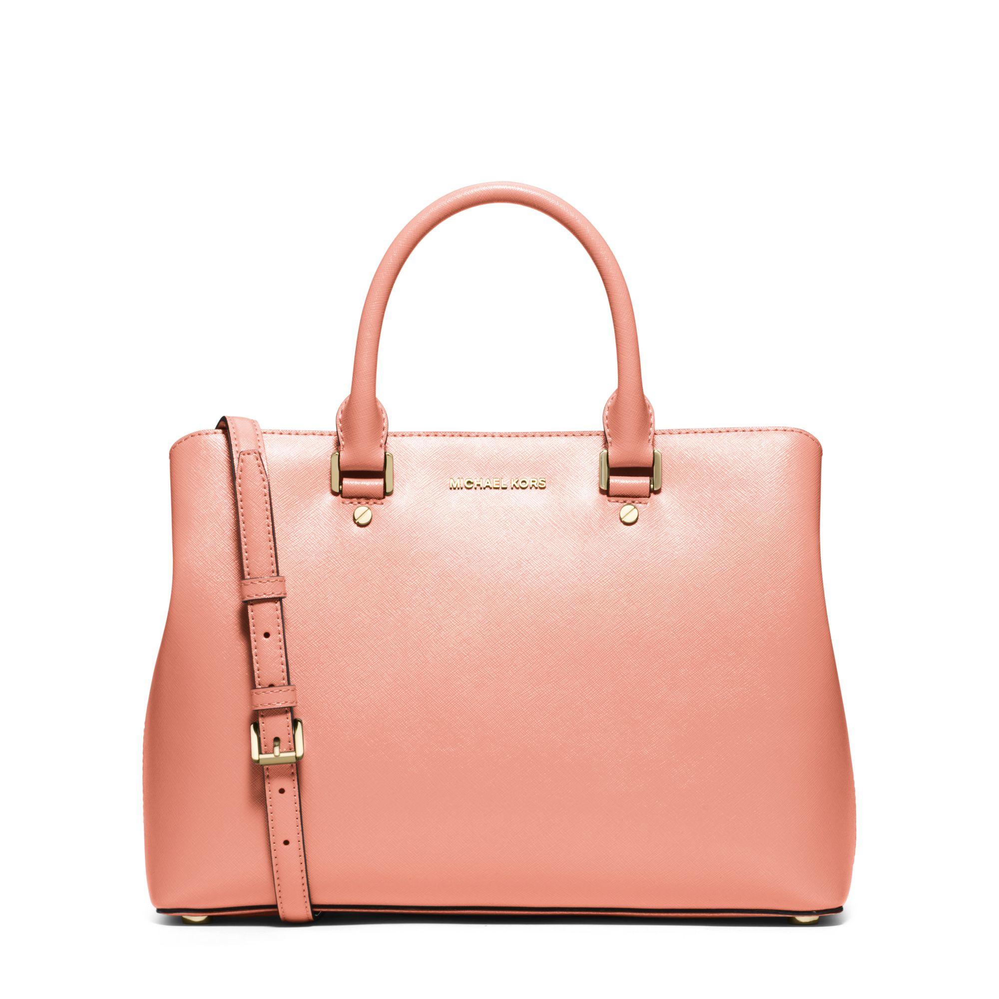 e6b764d4f712 ... low cost lyst michael kors savannah large patent saffiano leather  satchel bd090 cf8c4