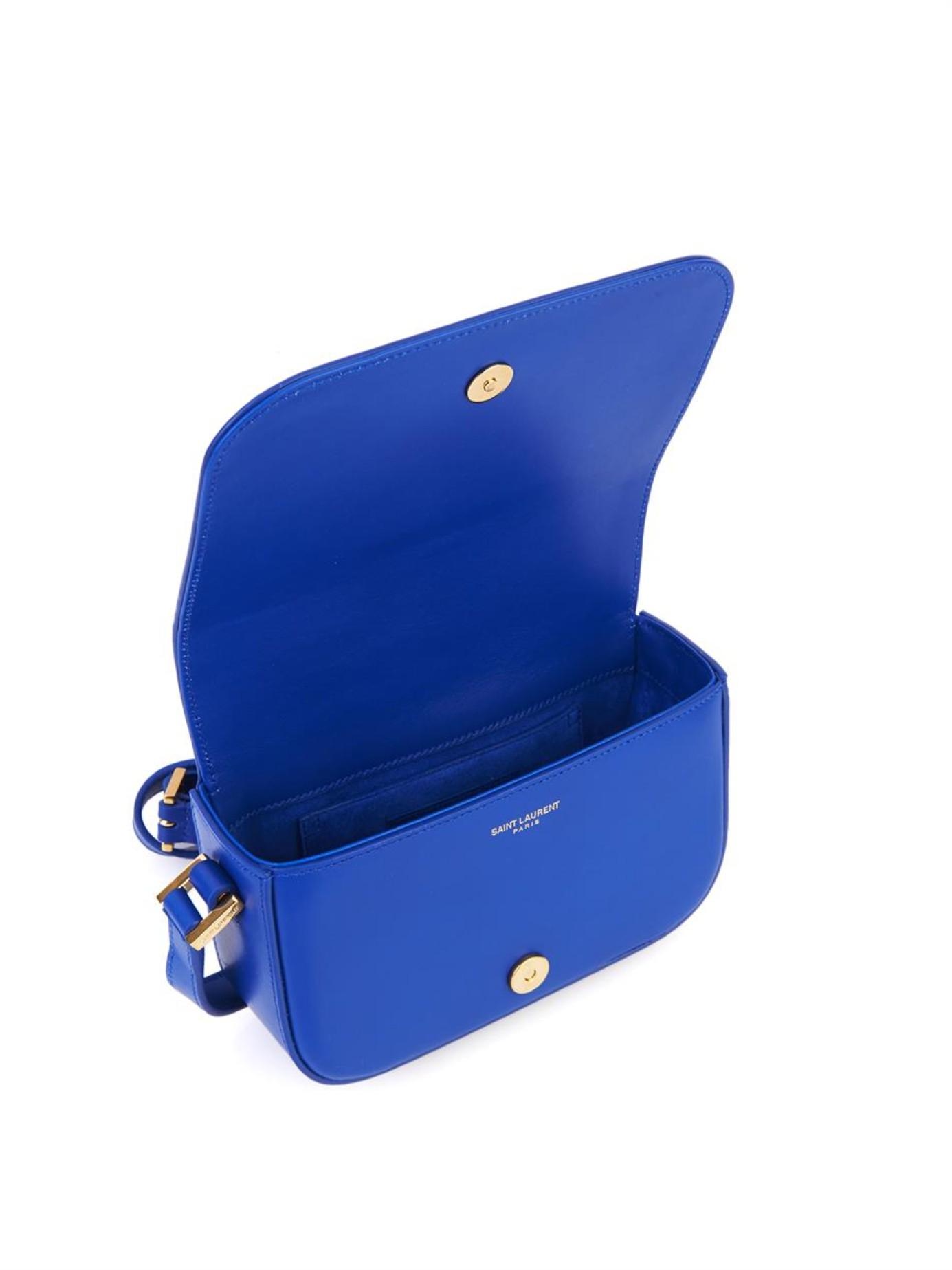 99207fe310f2 Lyst - Saint Laurent Université Small Leather Cross-Body Bag in Blue