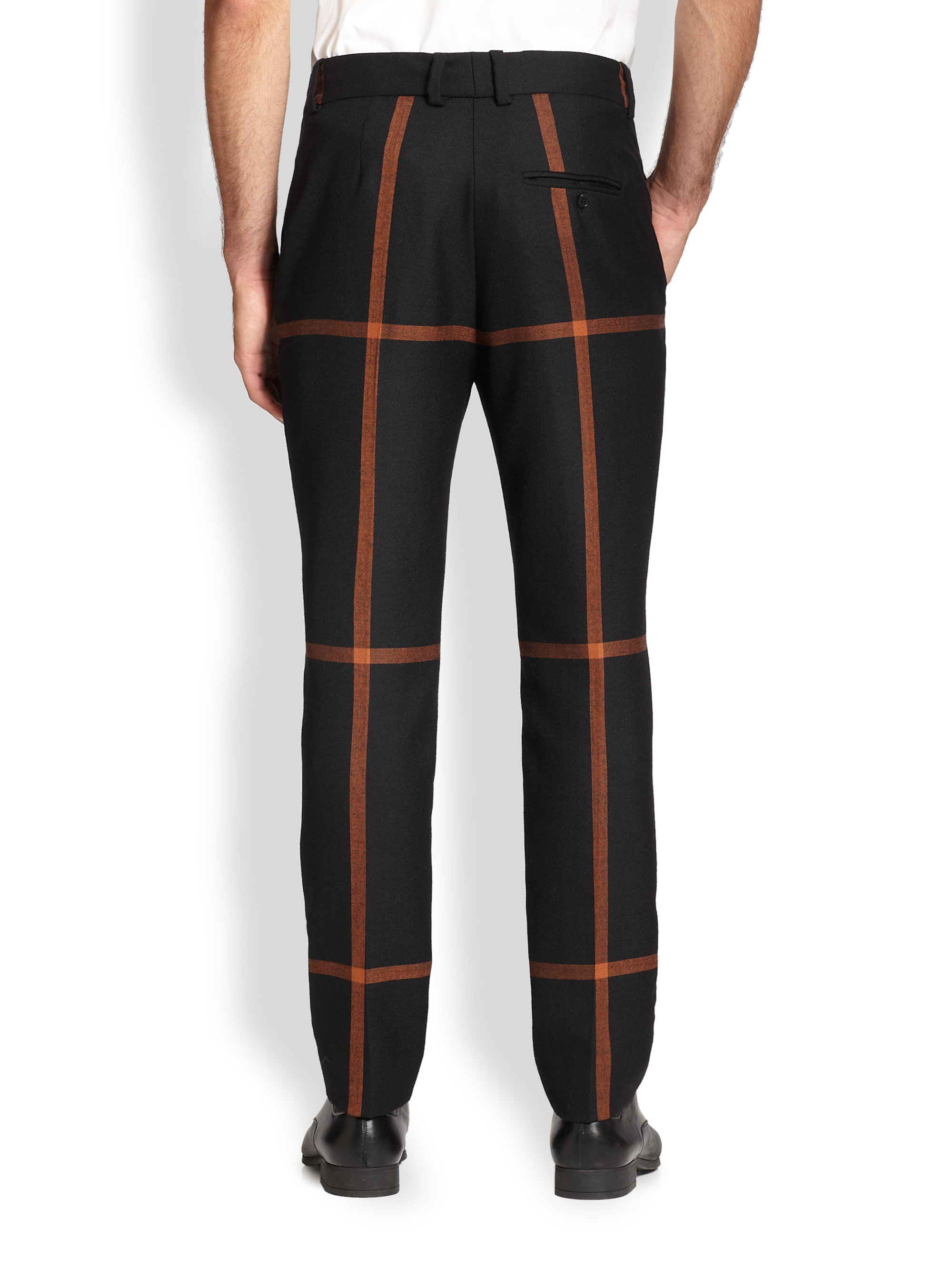 3.1 phillip lim Windowpane Riding Pants in Black for Men | Lyst