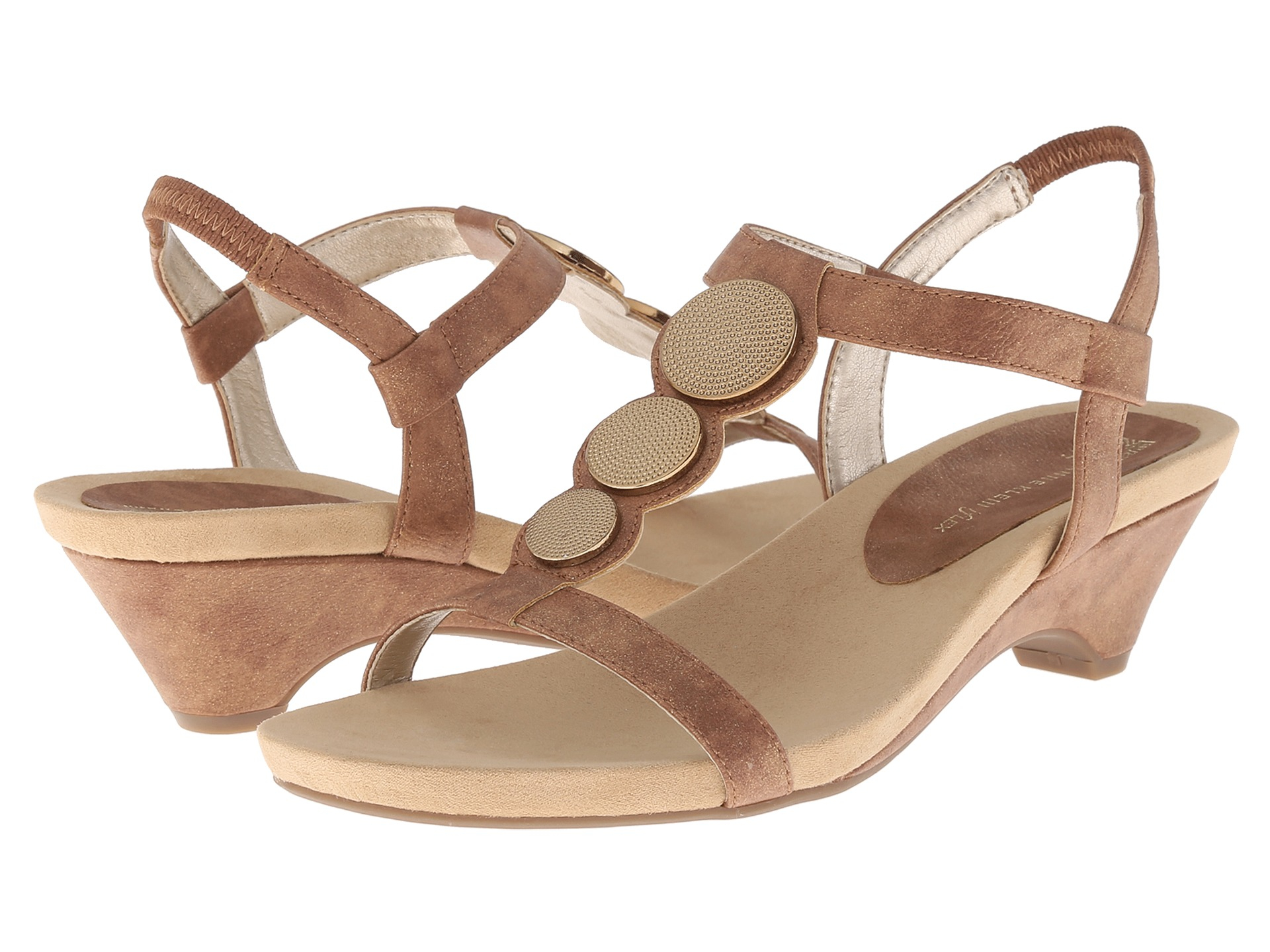 Womens Sandals Anne Klein Tayla Cognac Synthetic