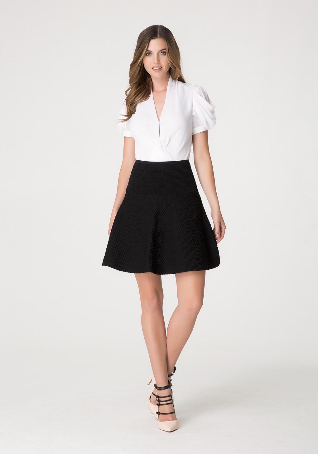 Lyst Bebe Fit Amp Flare Skirt In Black