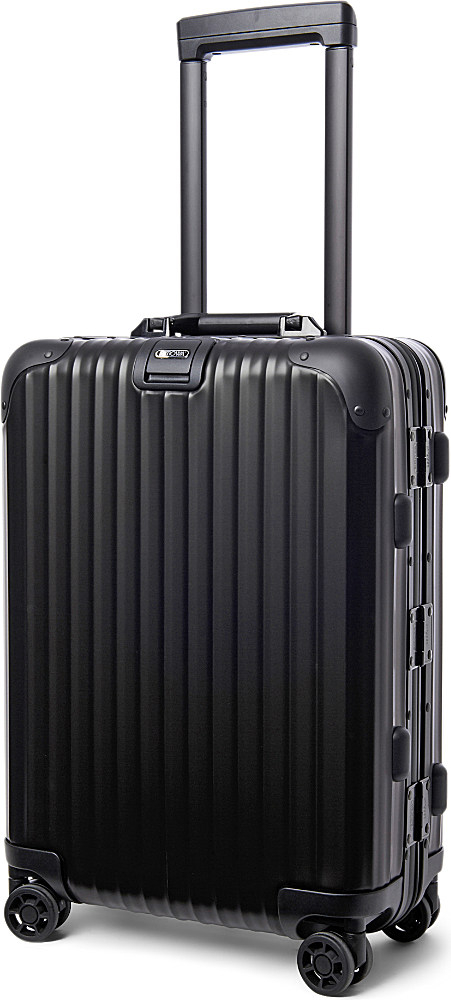 rimowa topas stealth iata four wheel cabin suitcase 55cm in black for men lyst. Black Bedroom Furniture Sets. Home Design Ideas