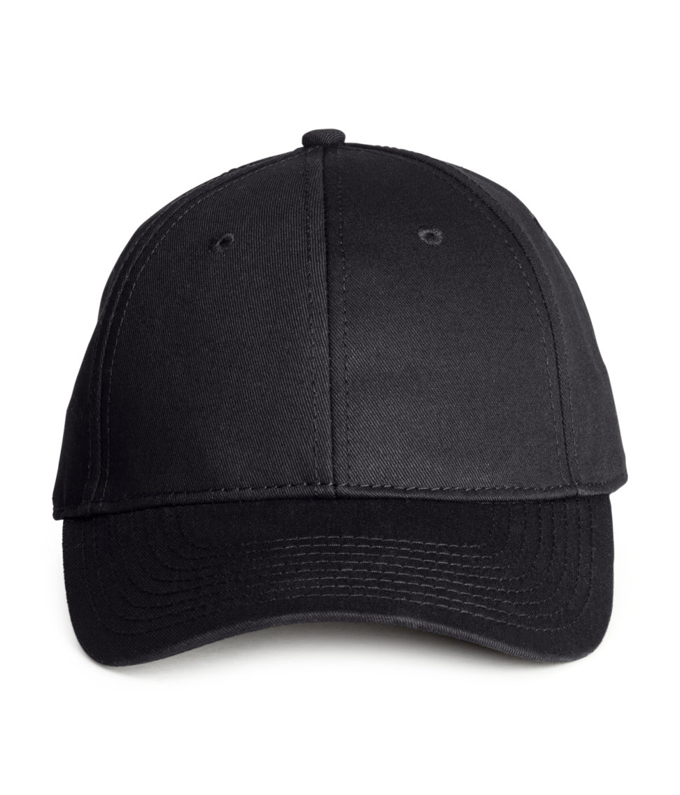 H&m Cotton Cap in Black for Men