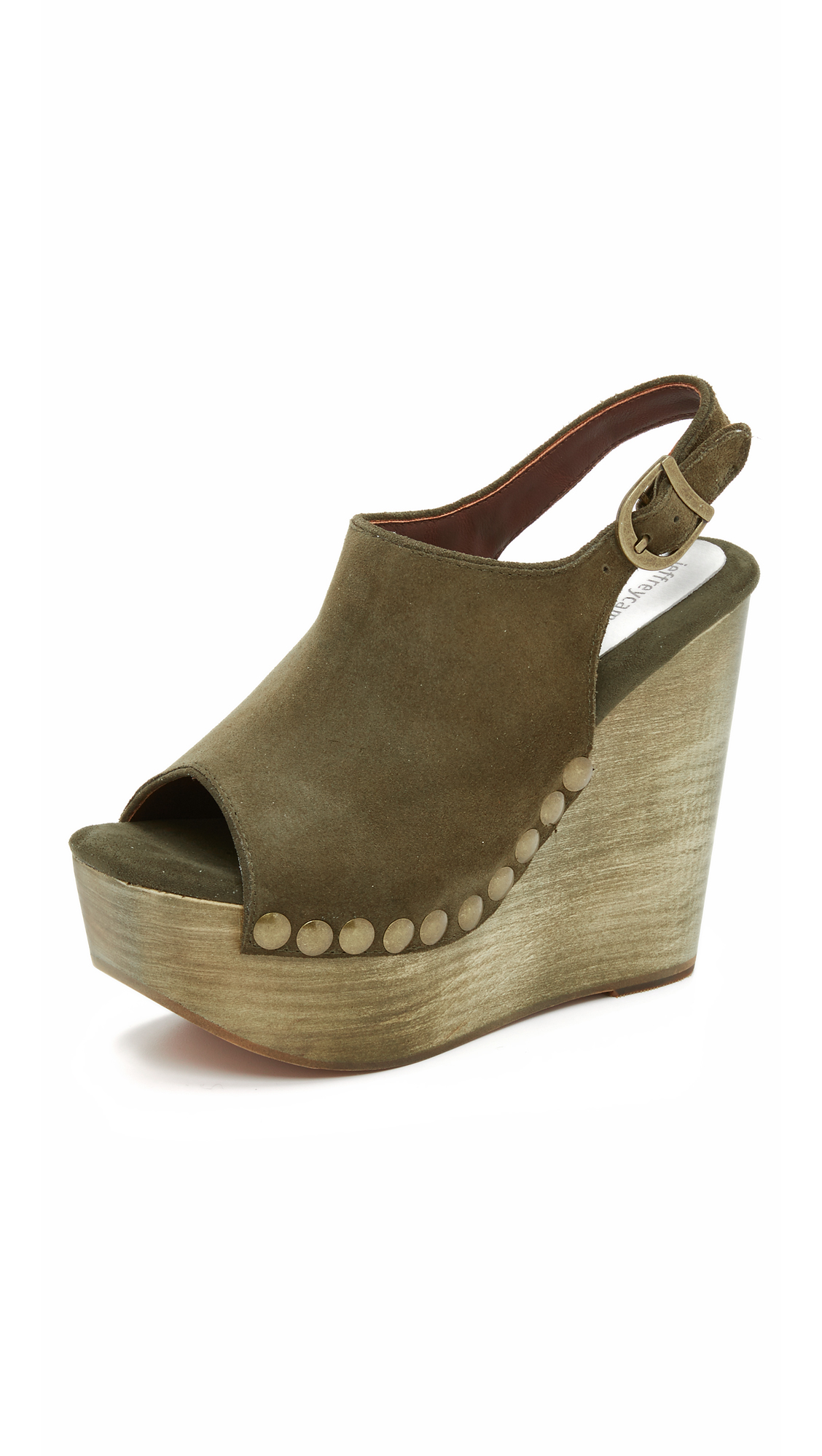 3fa1e486912b Lyst - Jeffrey Campbell Snick Wedge Sandals in Natural