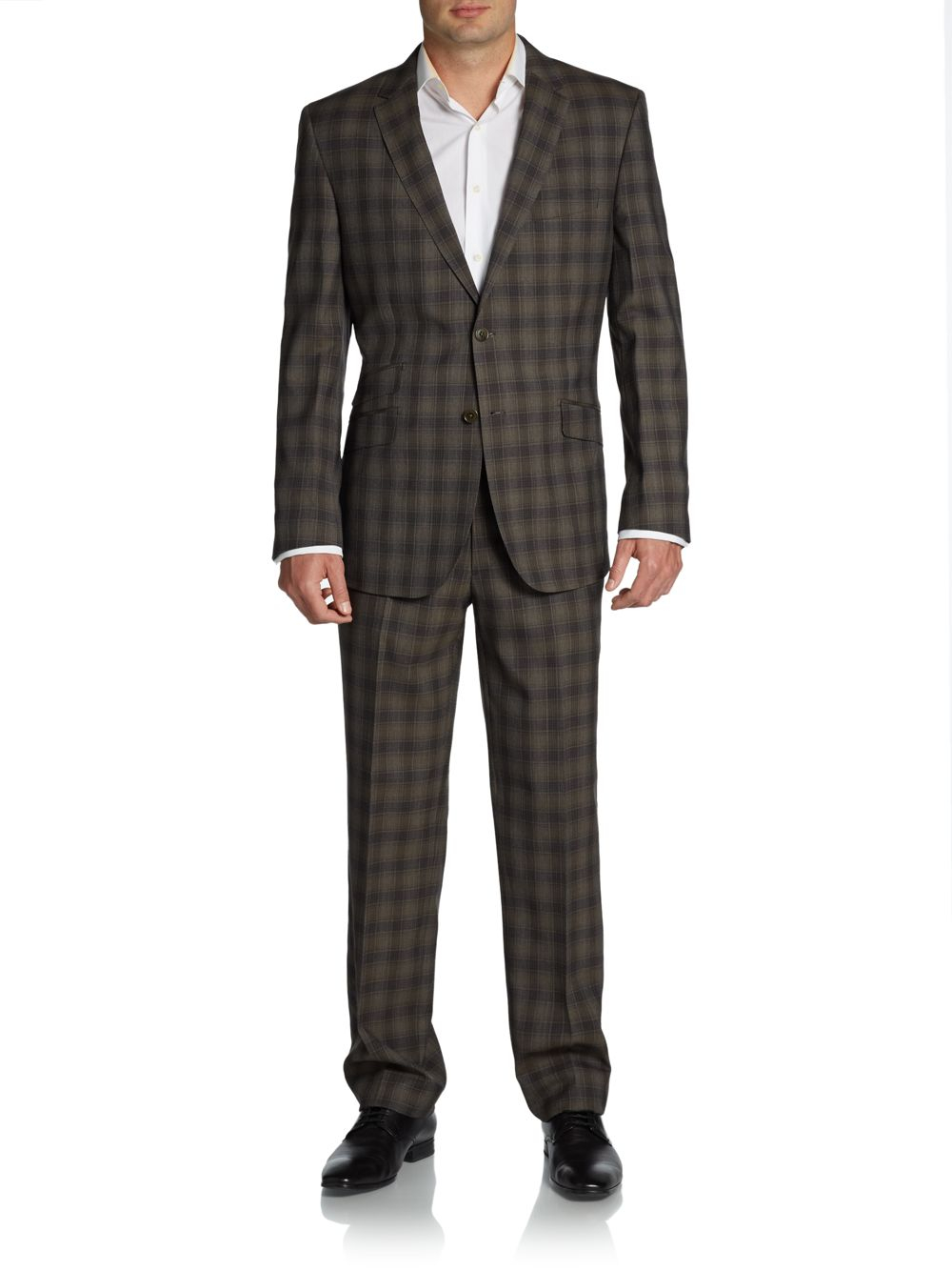 Lyst English Laundry Plaid Twobutton Wool Slimfit Suit