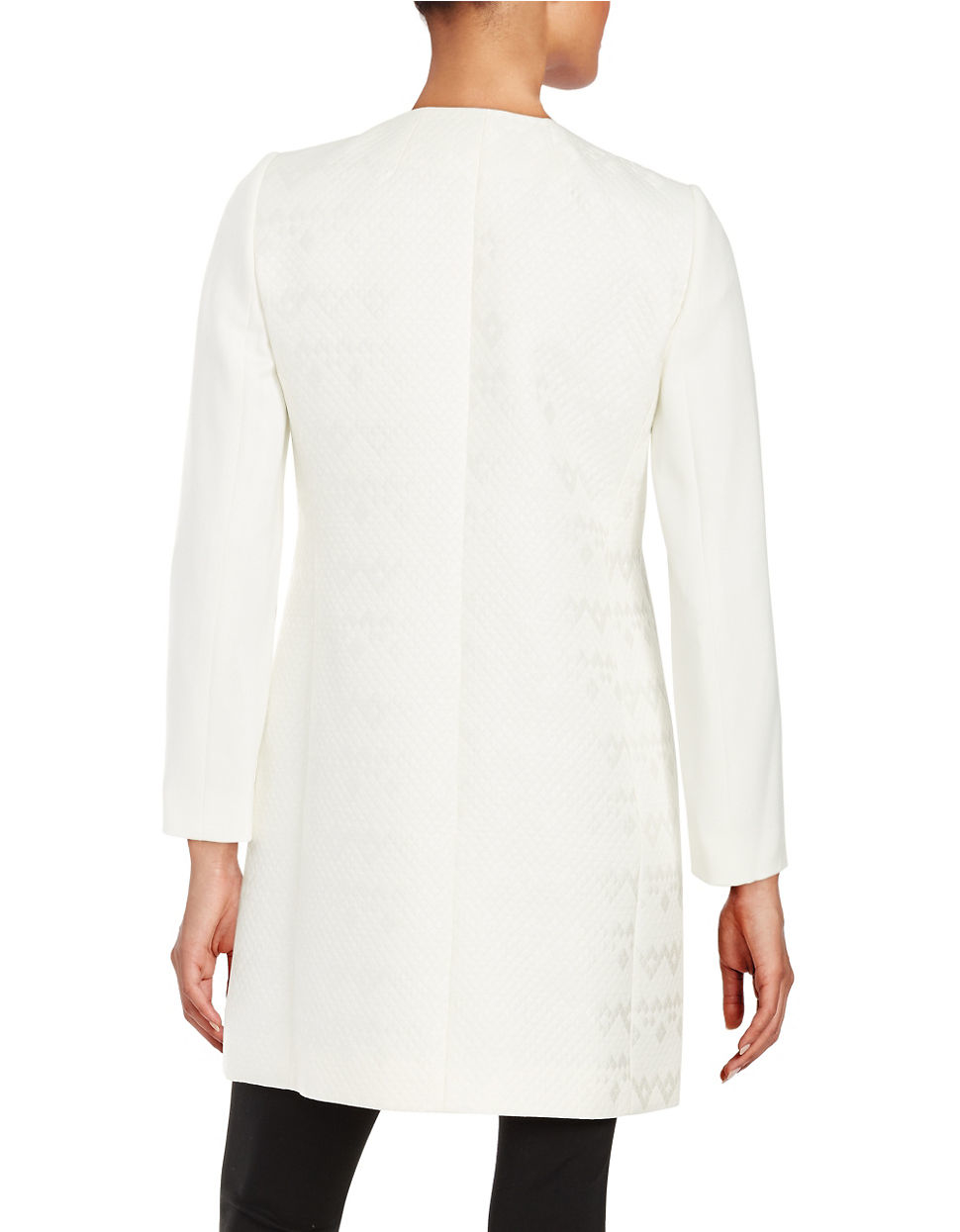 Tahari Quilted Topper In White Lyst