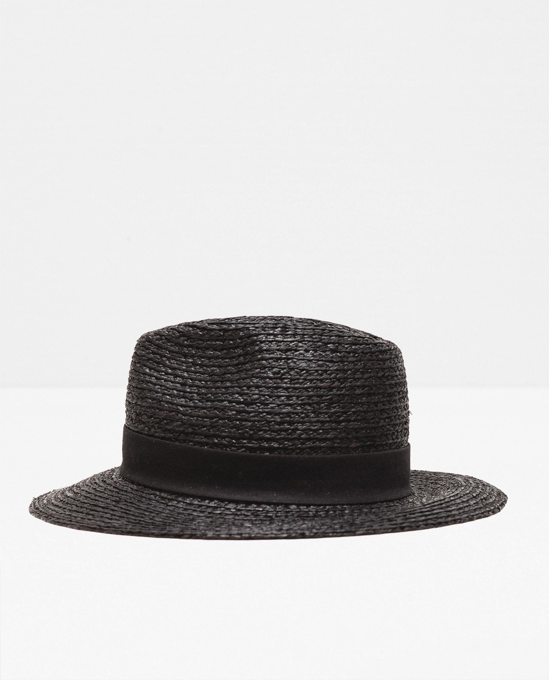 zara black hat in black lyst
