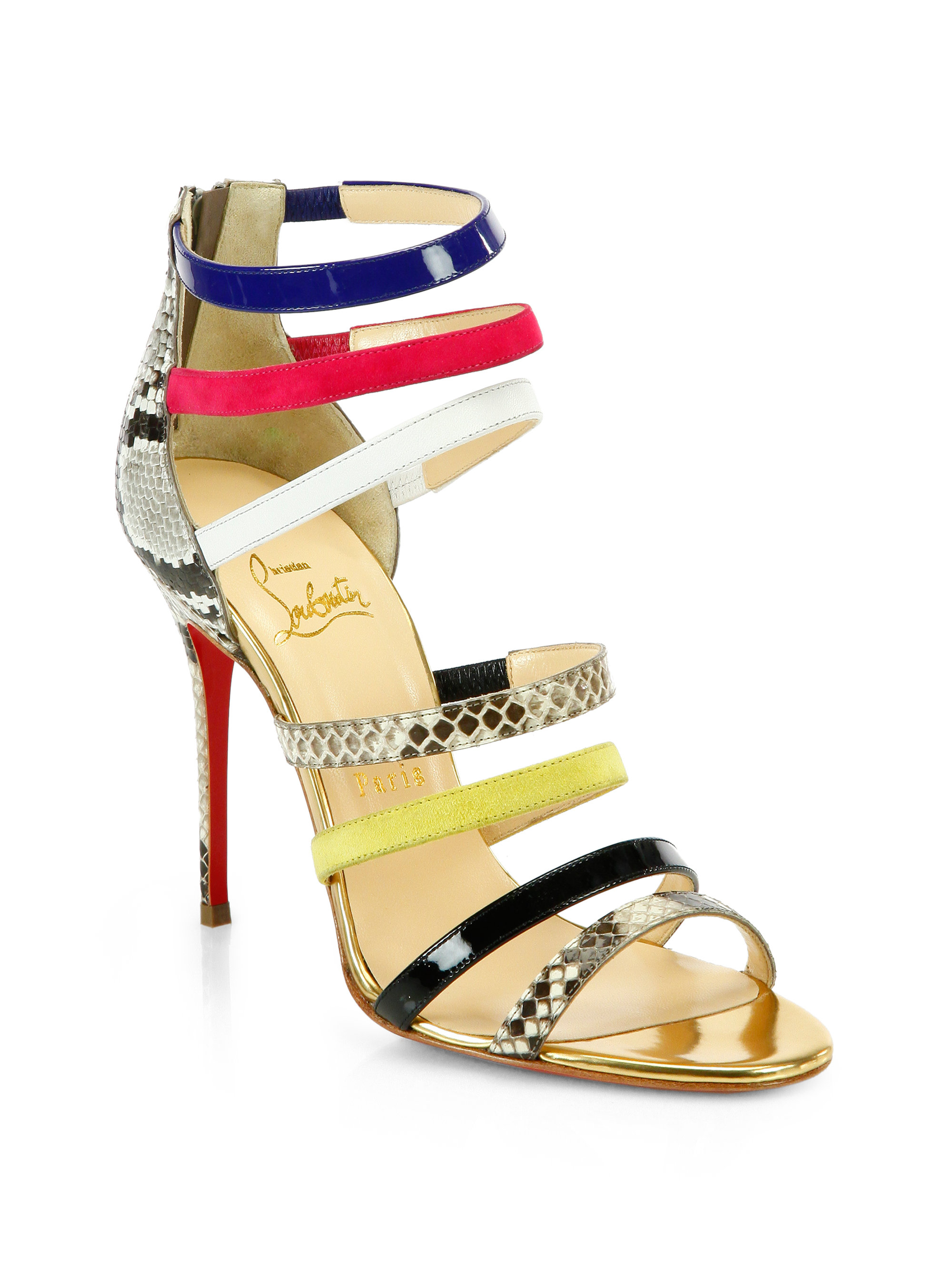 louboutin sandals Multicolore