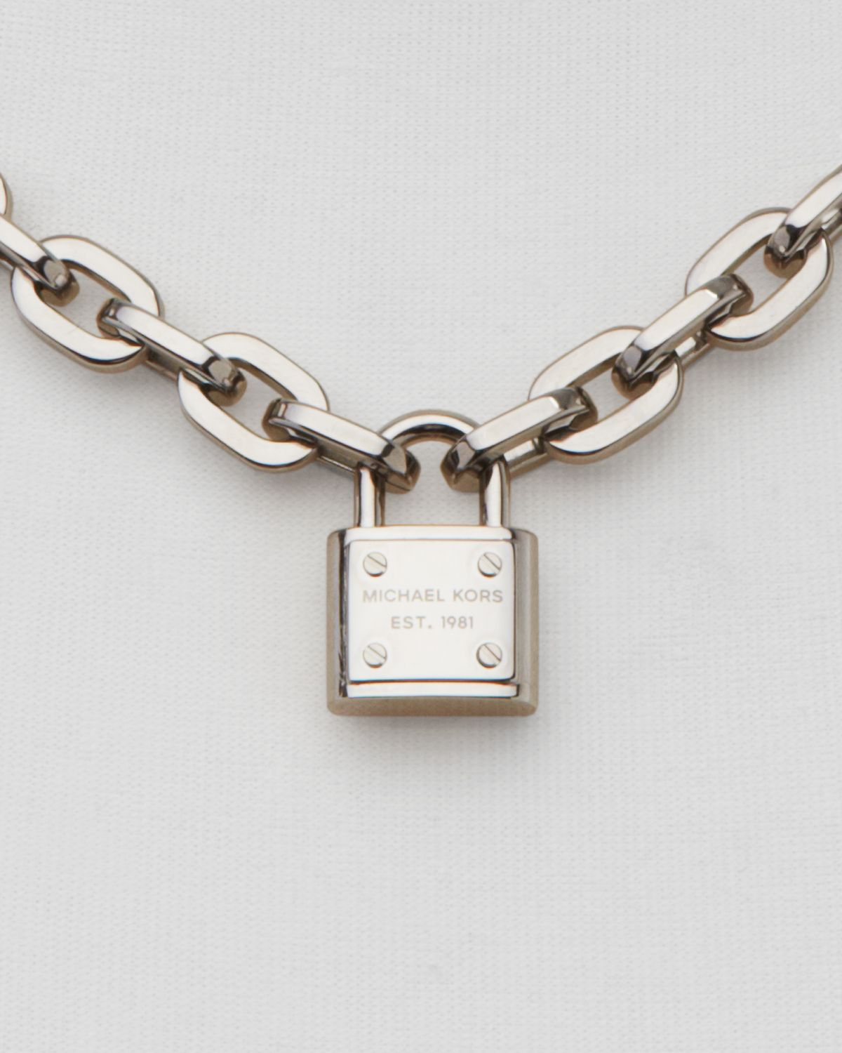 Lyst Michael Kors Chain Link Padlock Toggle Necklace 16