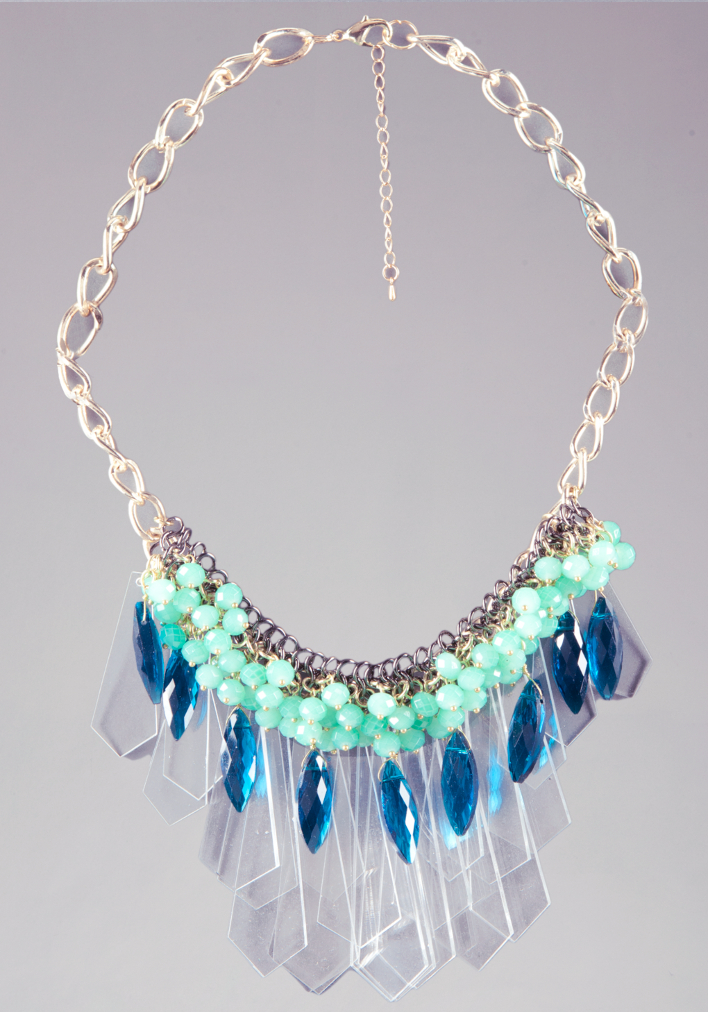 bebe spikes necklace in multicolor multi lyst