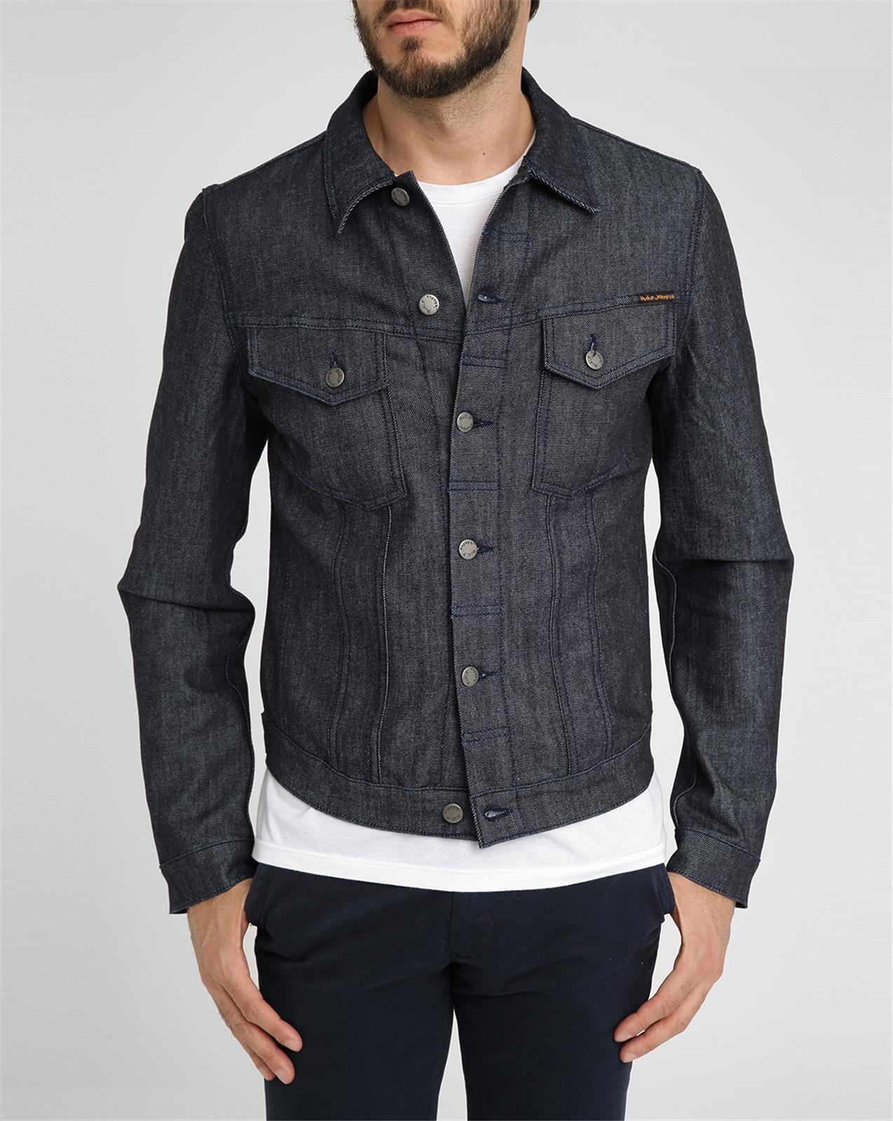 Nudie Jeans Dark Denim Organic Billy Jacket In Blue For